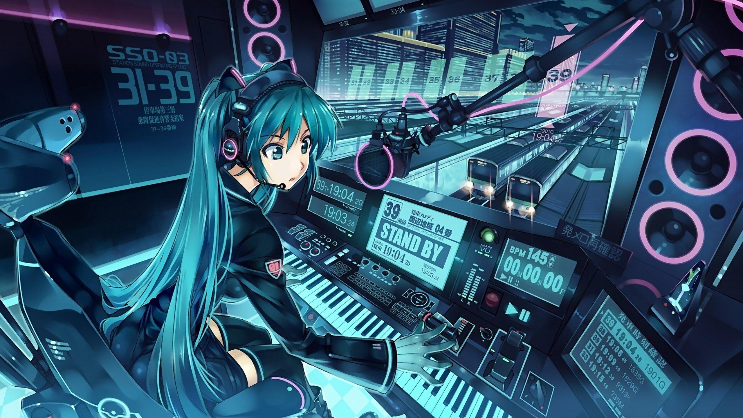 Fondos de pantalla Hatsune Miku Chica anime musica DJ