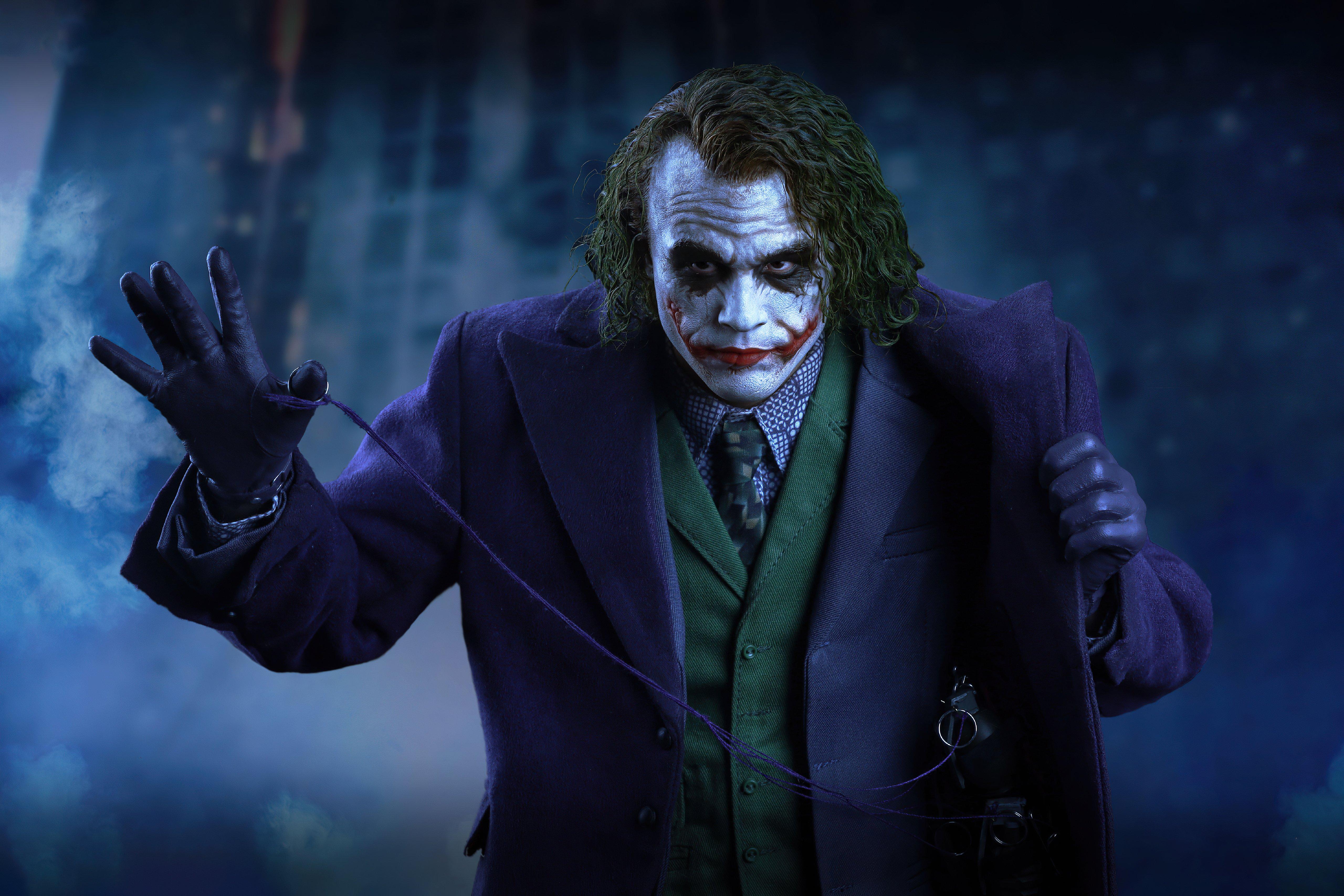 Wallpaper Heath Ledger as Joker Fanart