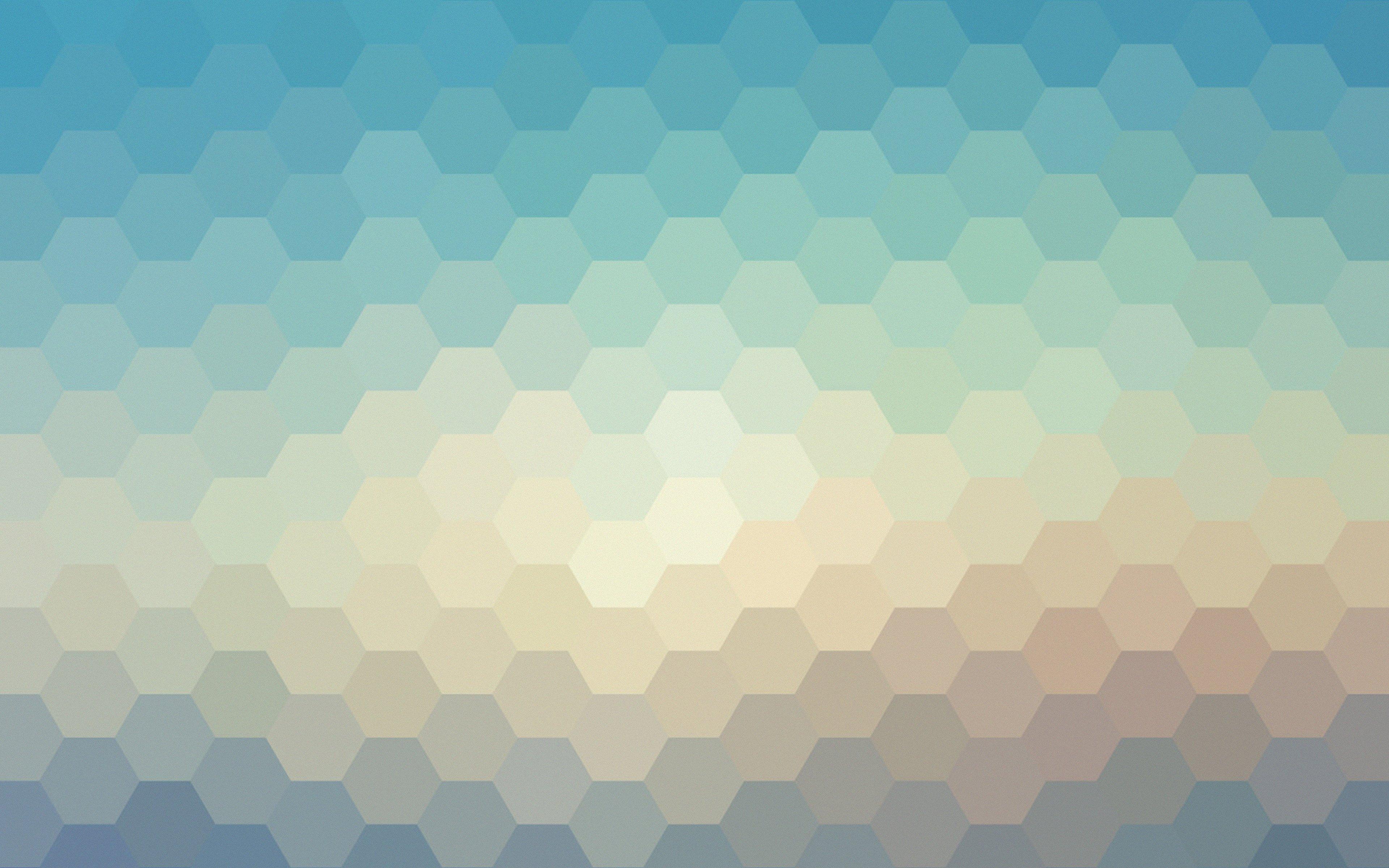 Fondos de pantalla Hexágonos colores pastel
