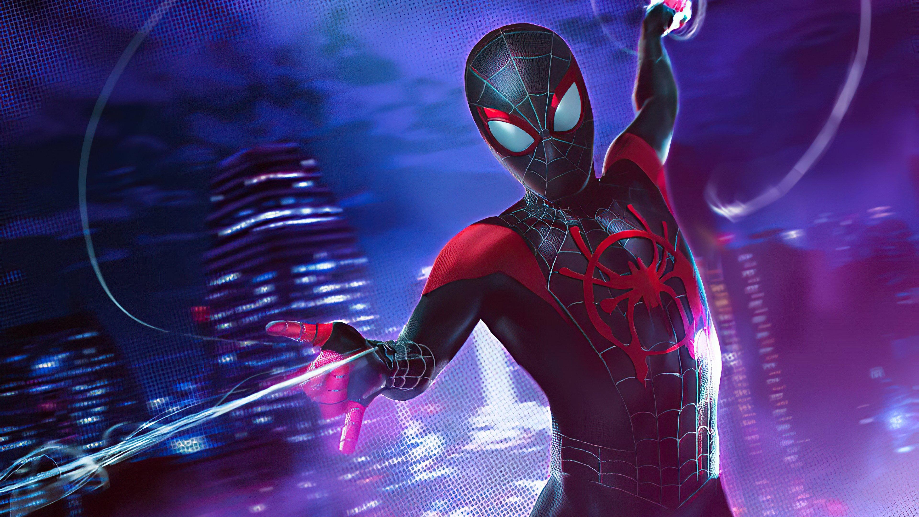 Fondos de pantalla Hombre araña con traje negro