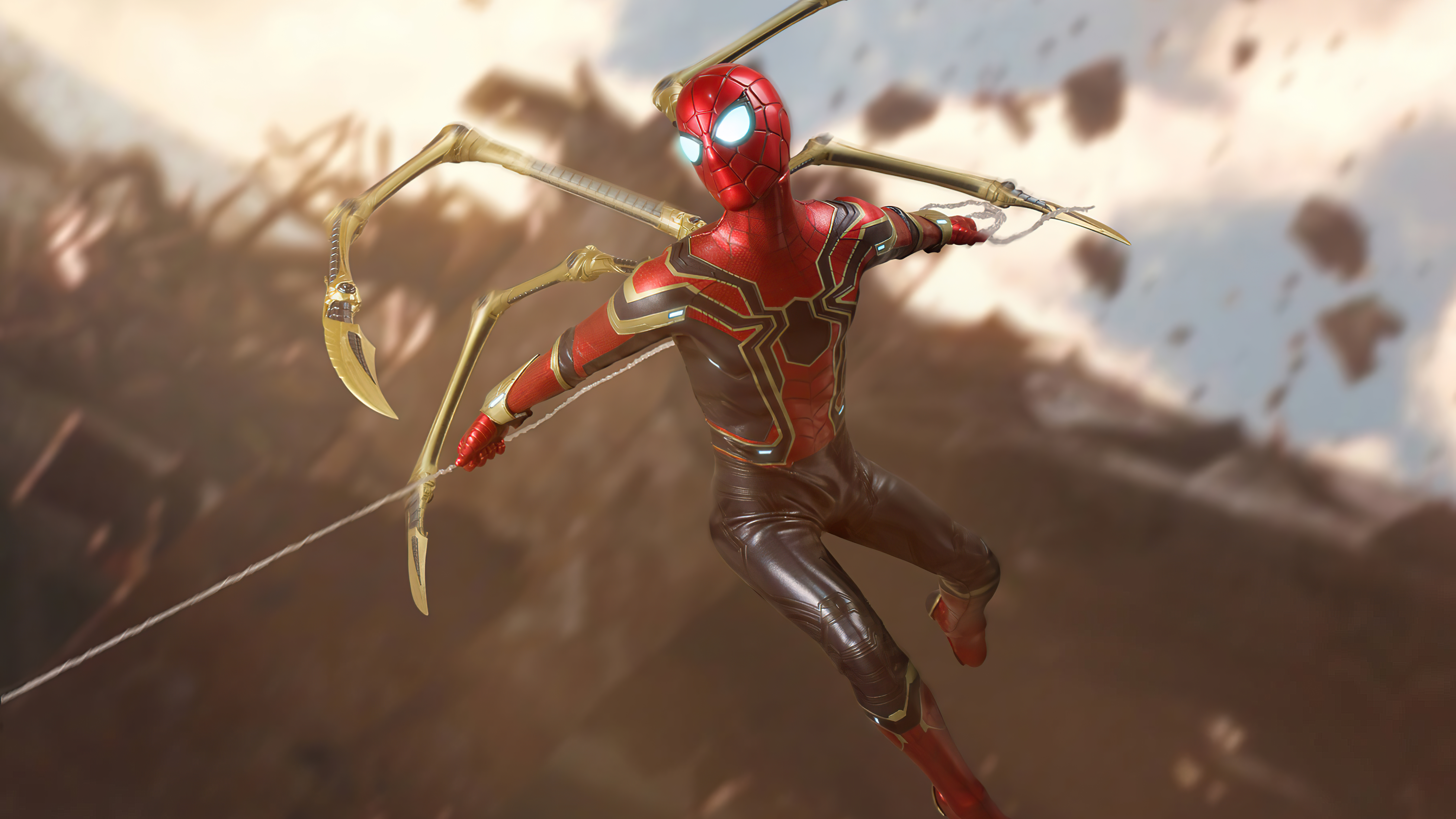 Wallpaper Spider Man with new suit