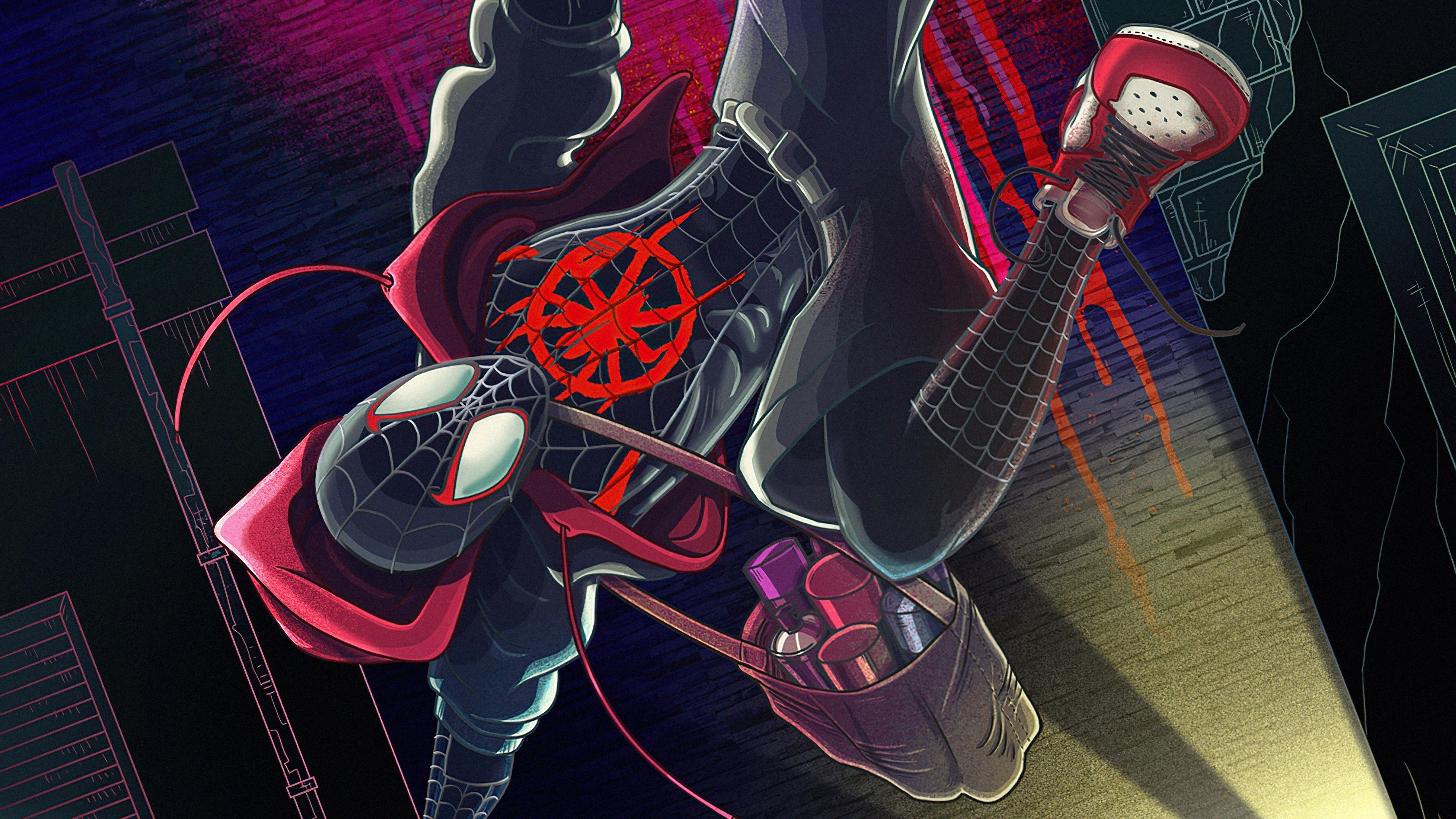 Wallpaper Spider Man upside down