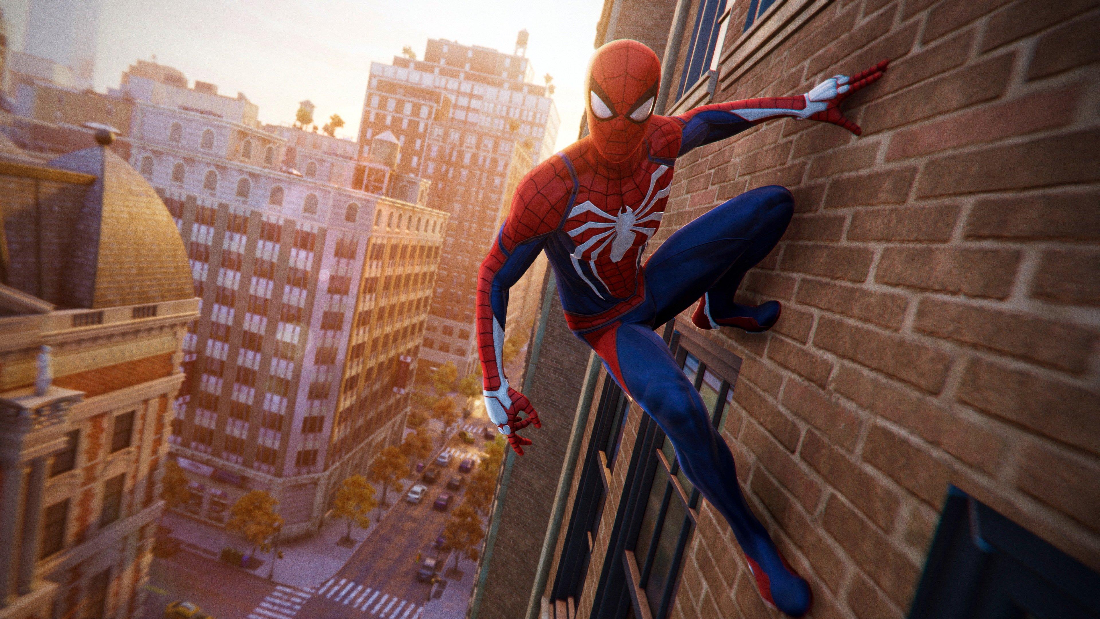 Fondos de pantalla Hombre Araña - Spider-Man de PS4 escalando un edificio