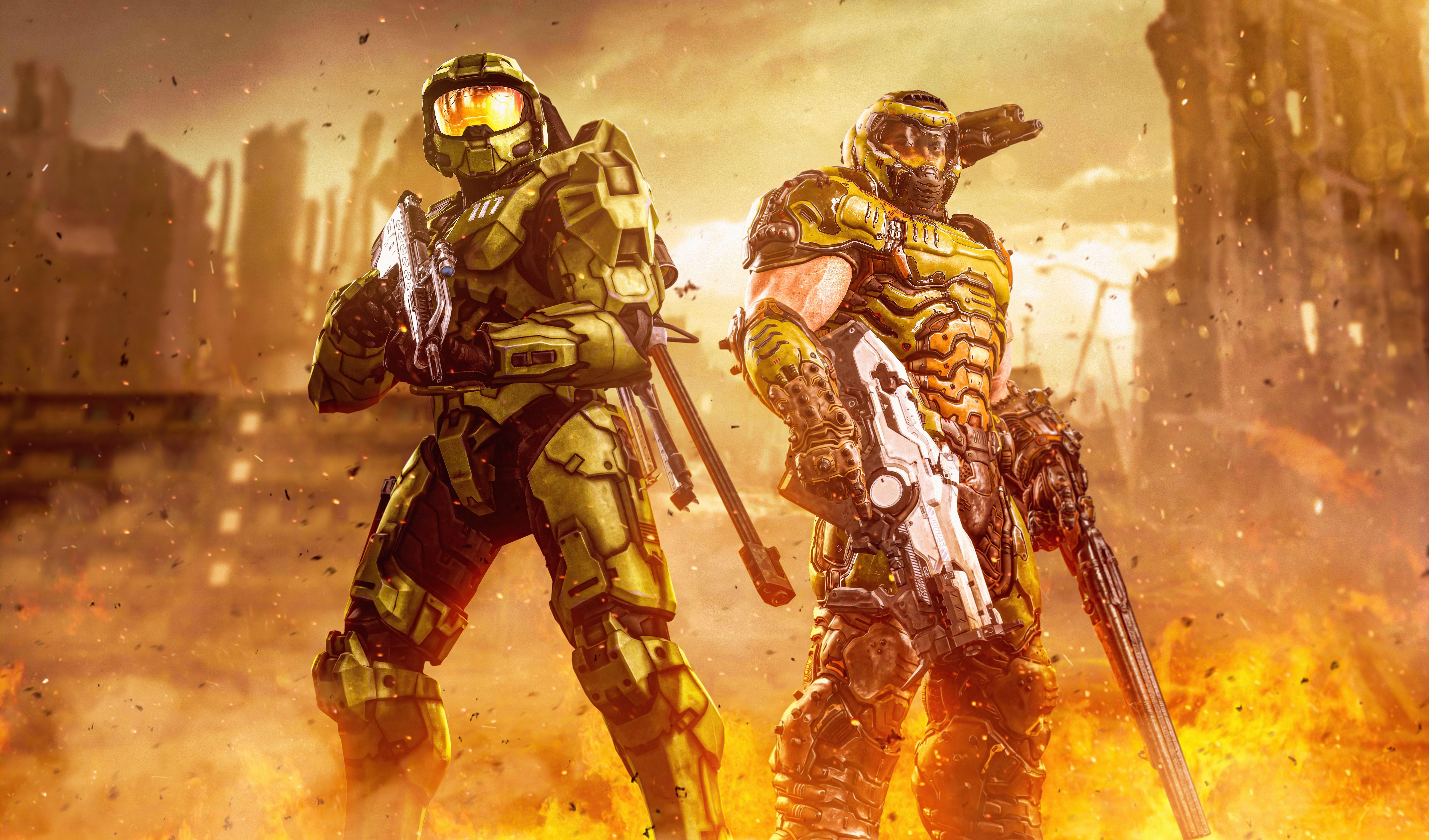 Fondos de pantalla Hombres verdes Halo Infinite