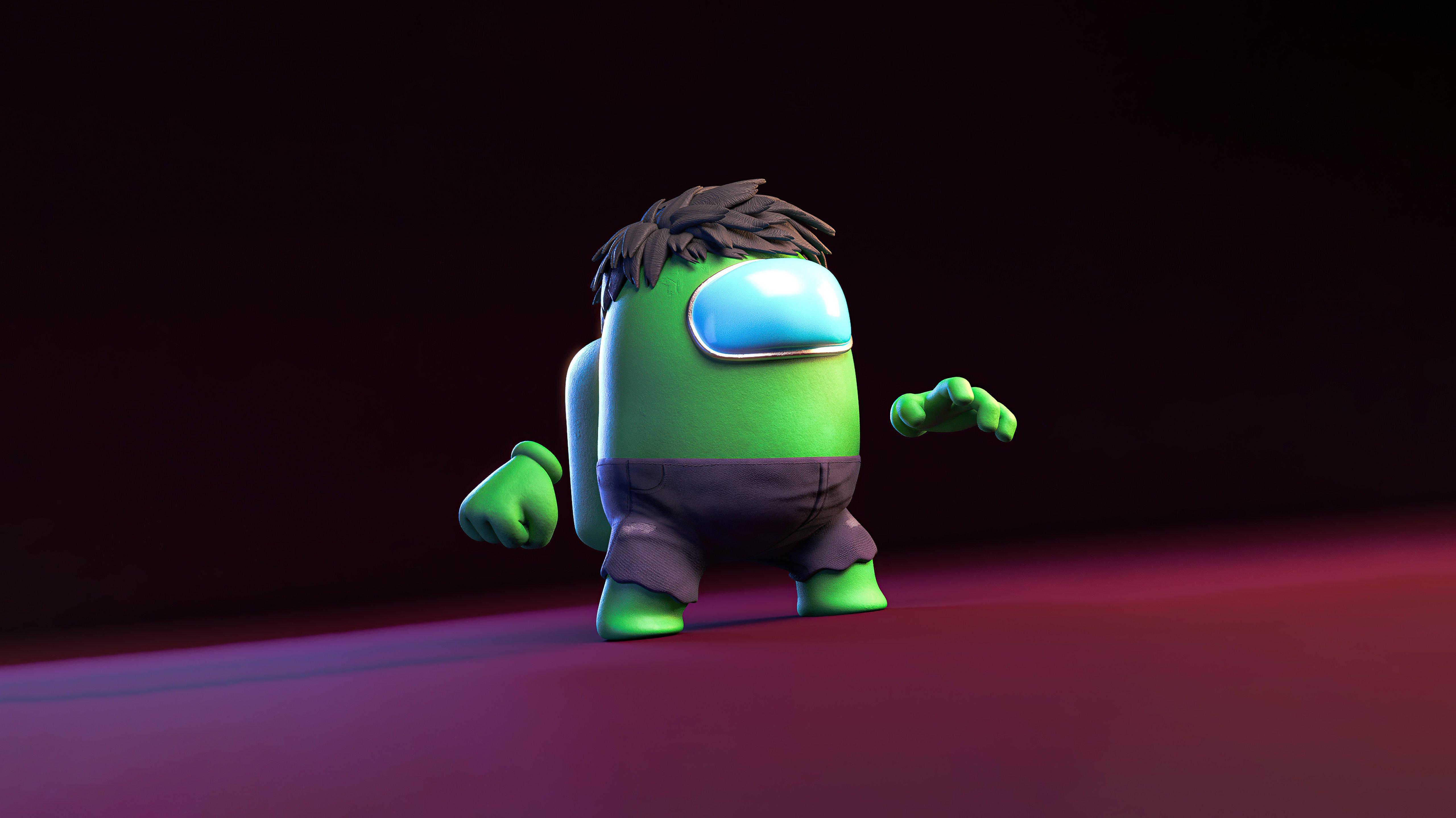 Fondos de pantalla Hulk estilo Among us