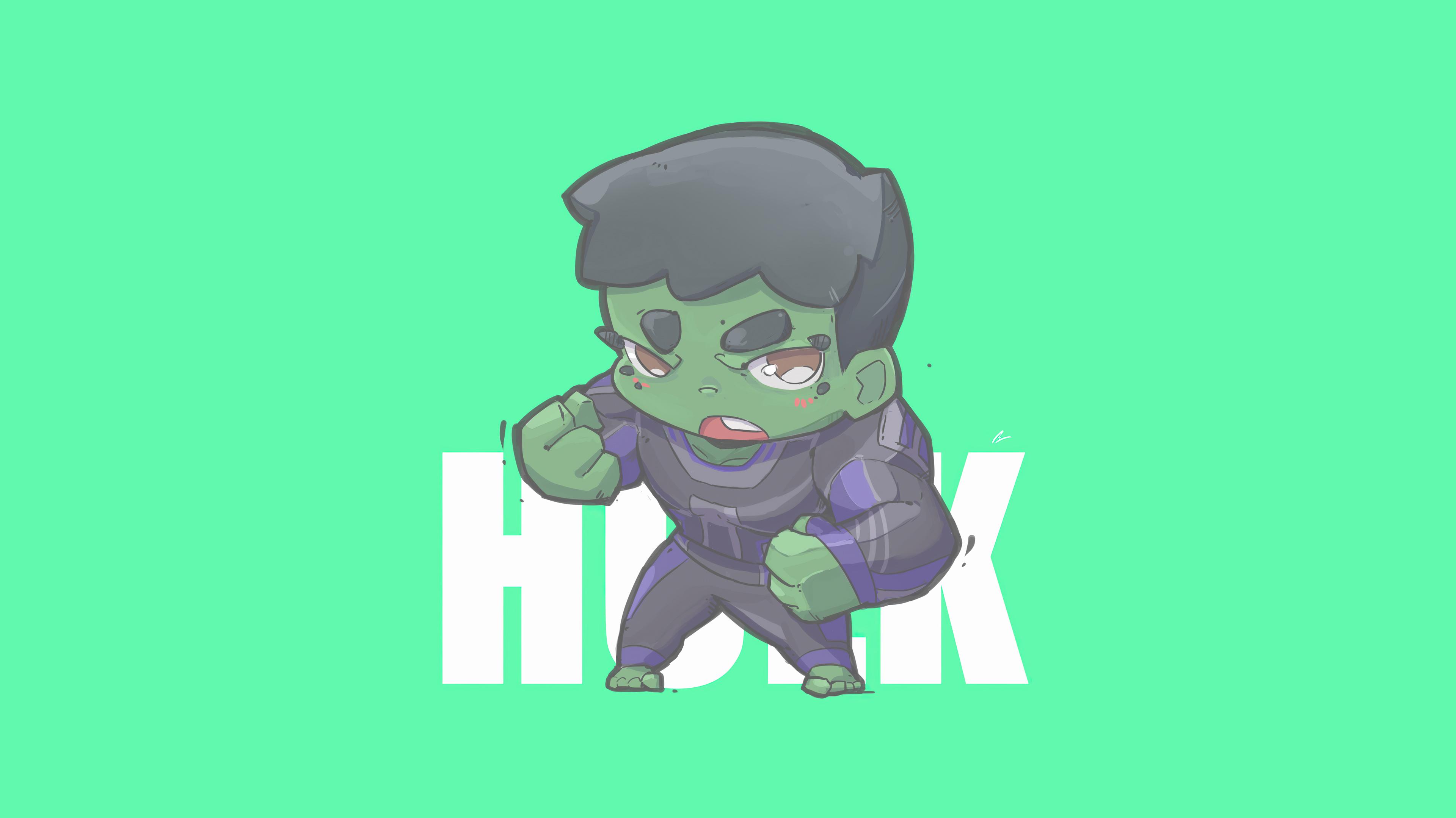 Fondos de pantalla Hulk Minimalista