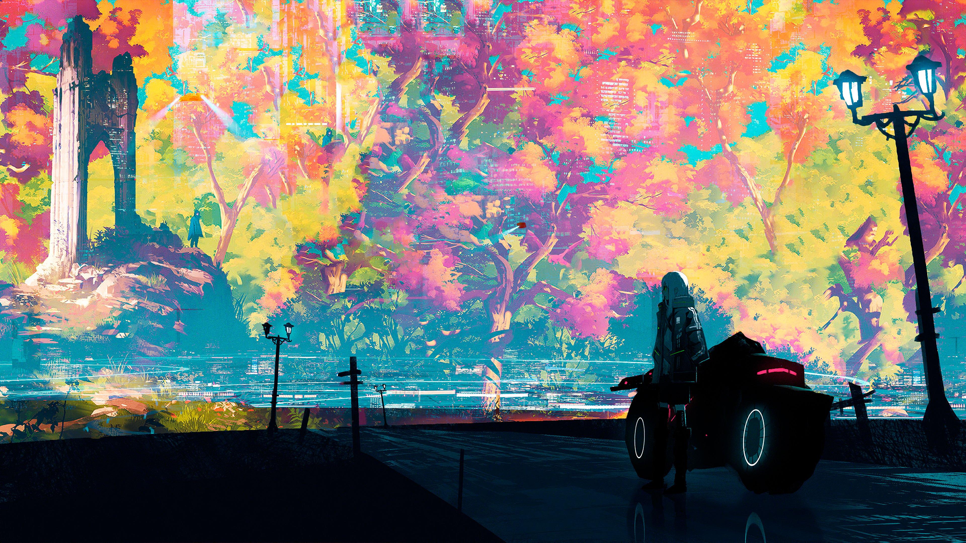 Fondos de pantalla Ilustración Ciudad pintada