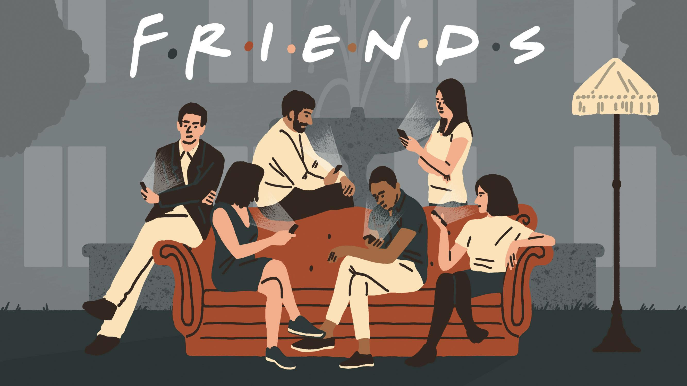 Wallpaper Friends Illustration