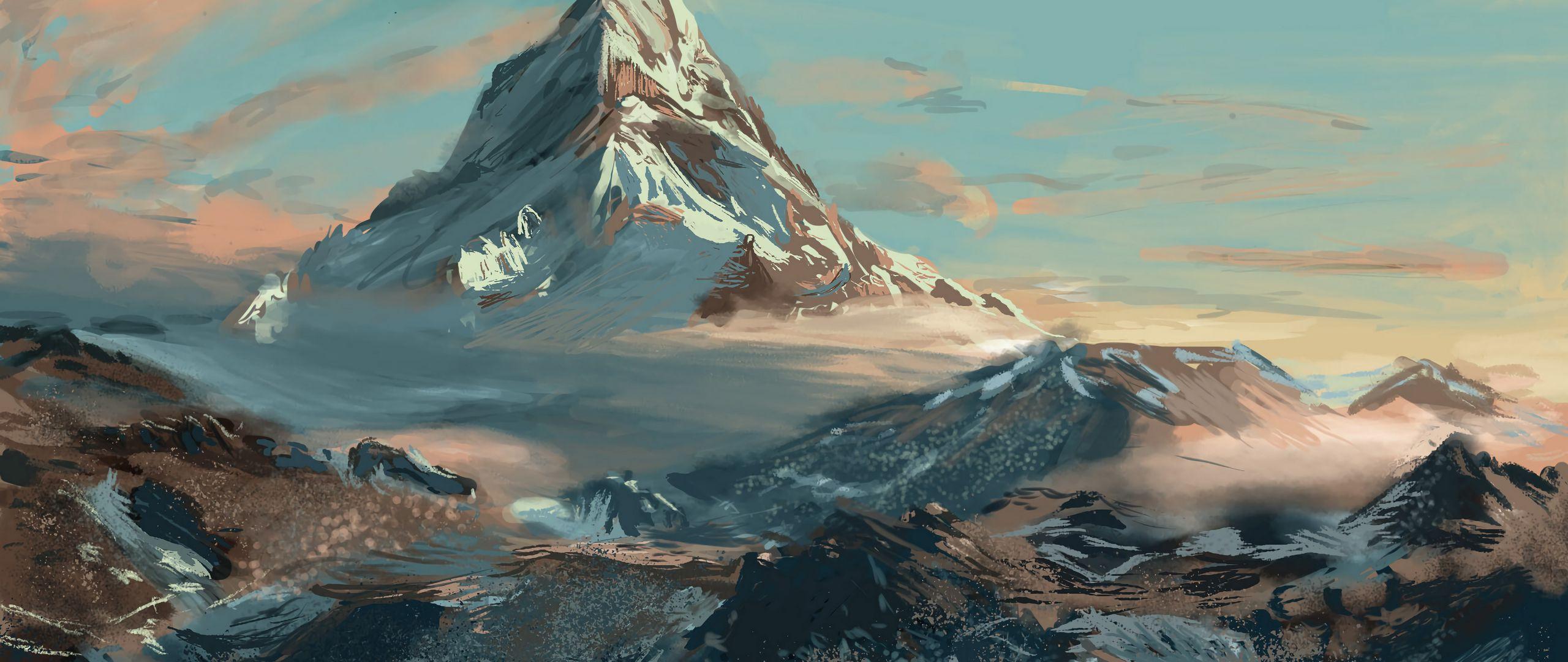 Fondos de pantalla Ilustración de montaña