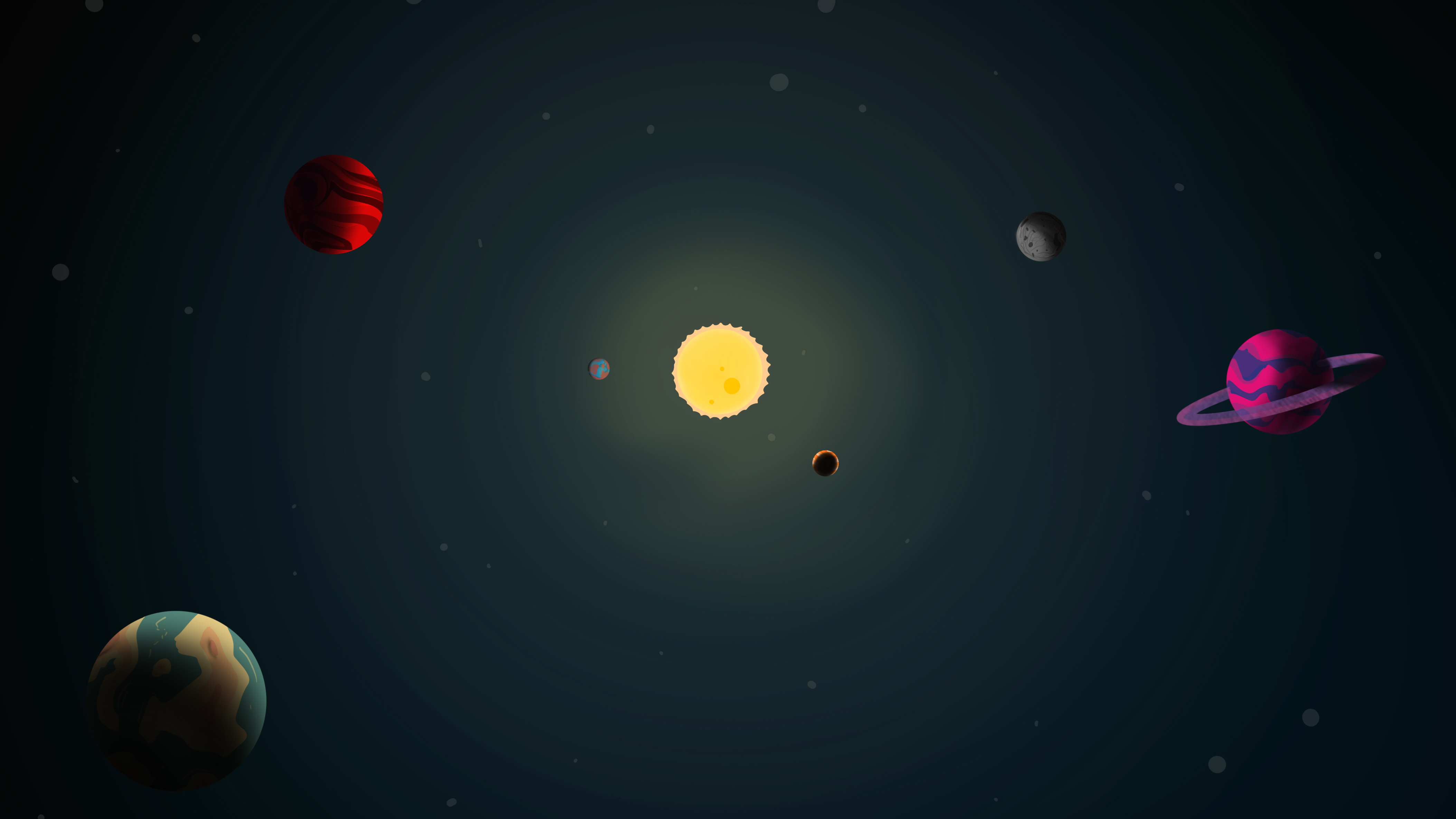 Fondos de pantalla Ilustración de planetas