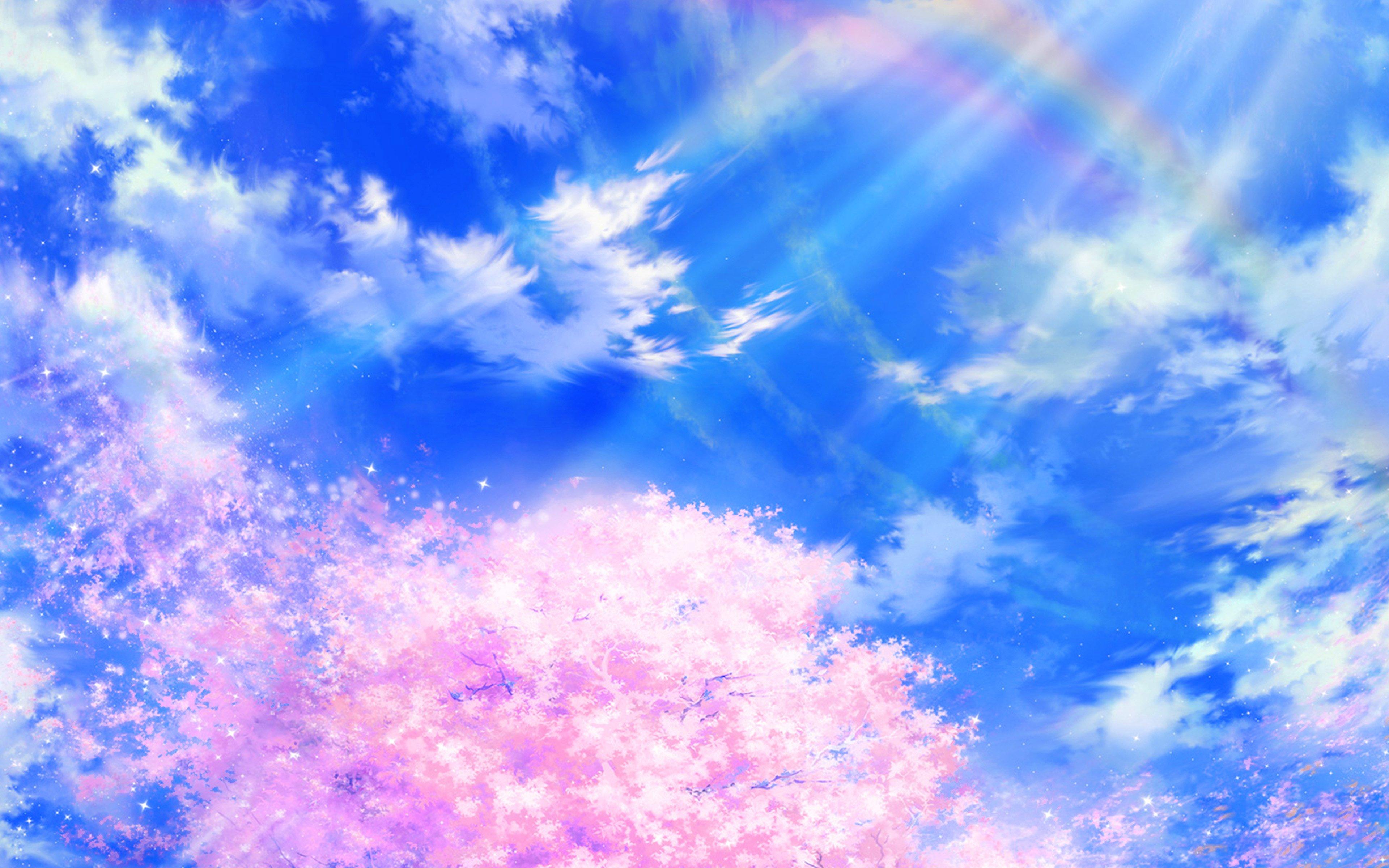 Fondos de pantalla Ilustración de primavera nubes cielo anime