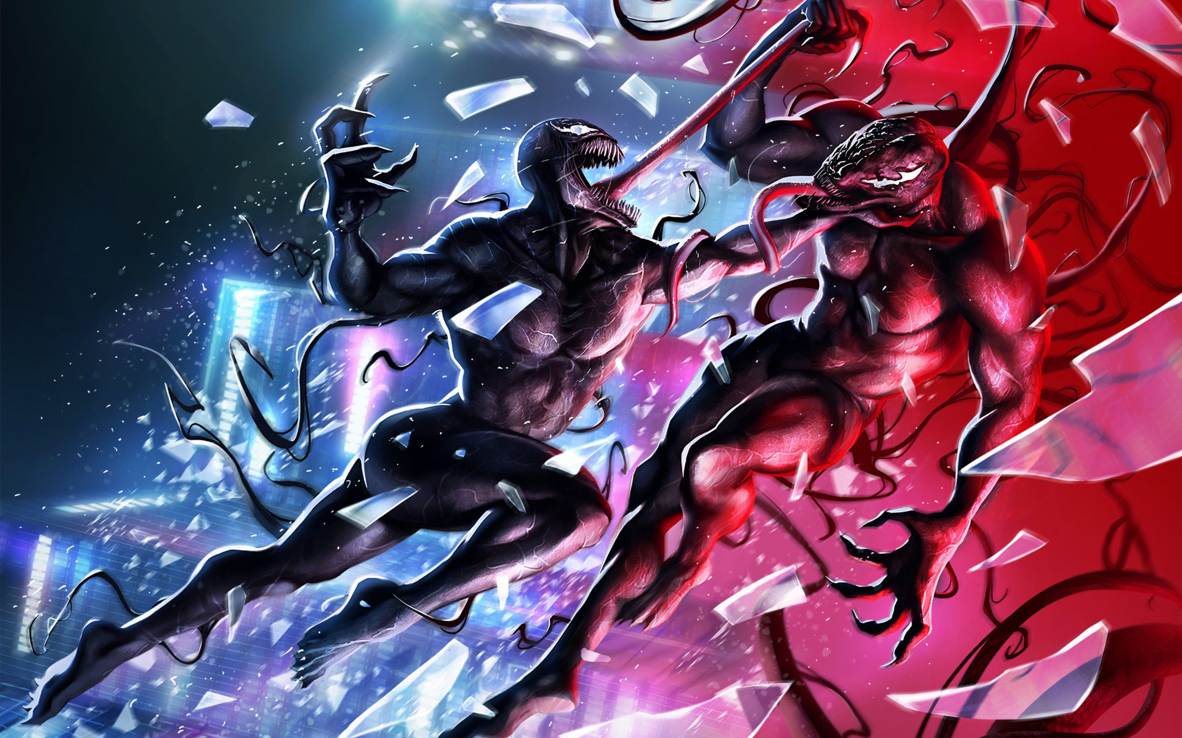 Fondos de pantalla Ilustración de Venom contra Riot