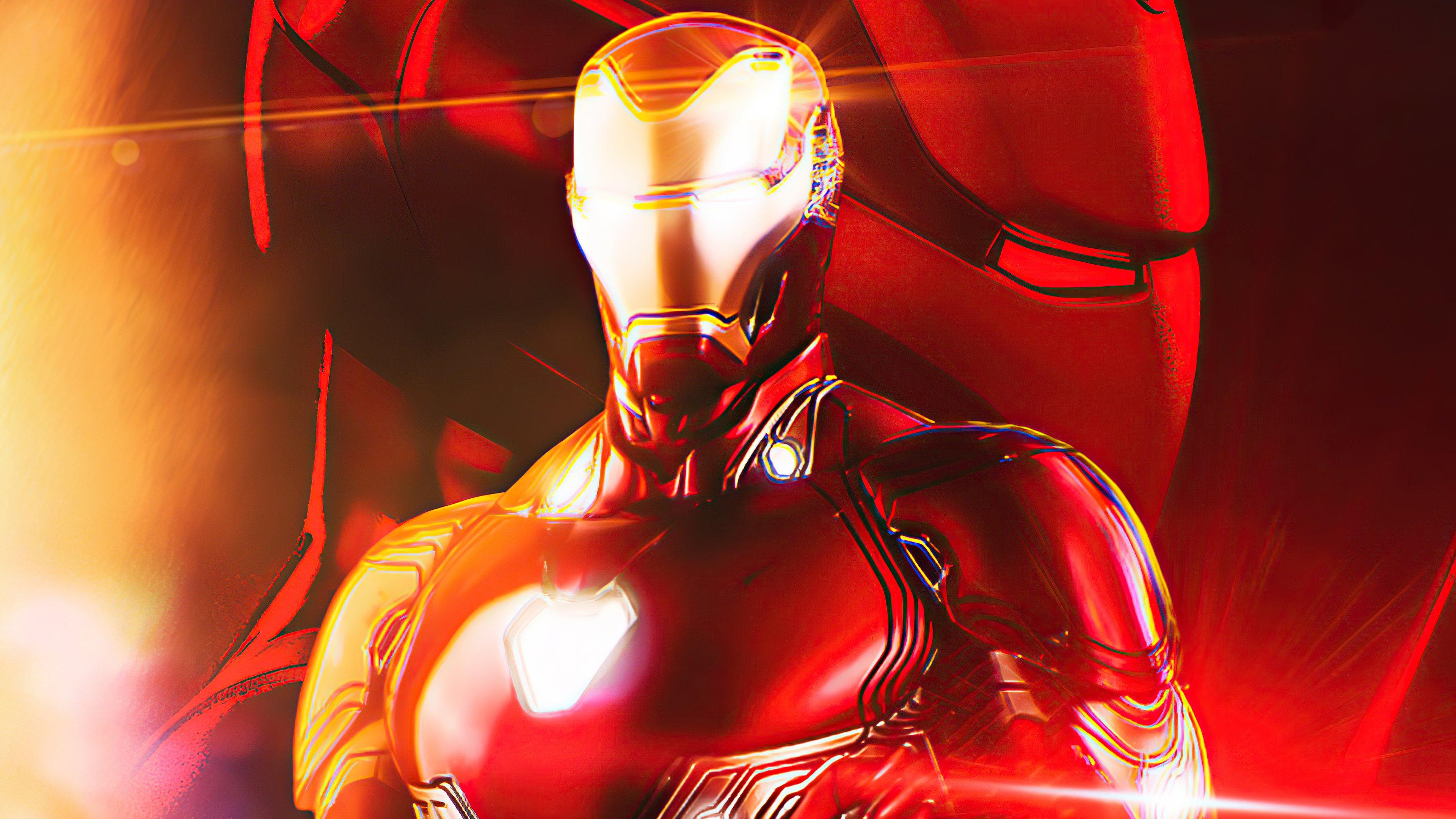 Wallpaper Iron Man Illustration