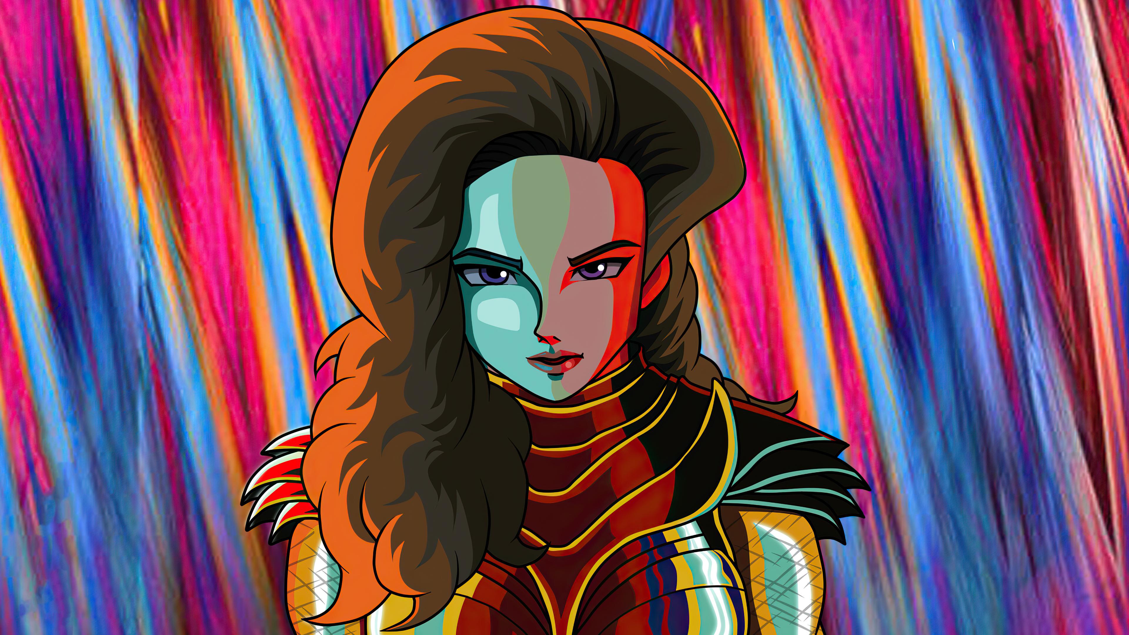 Wallpaper Ilustración Wonder woman 2020
