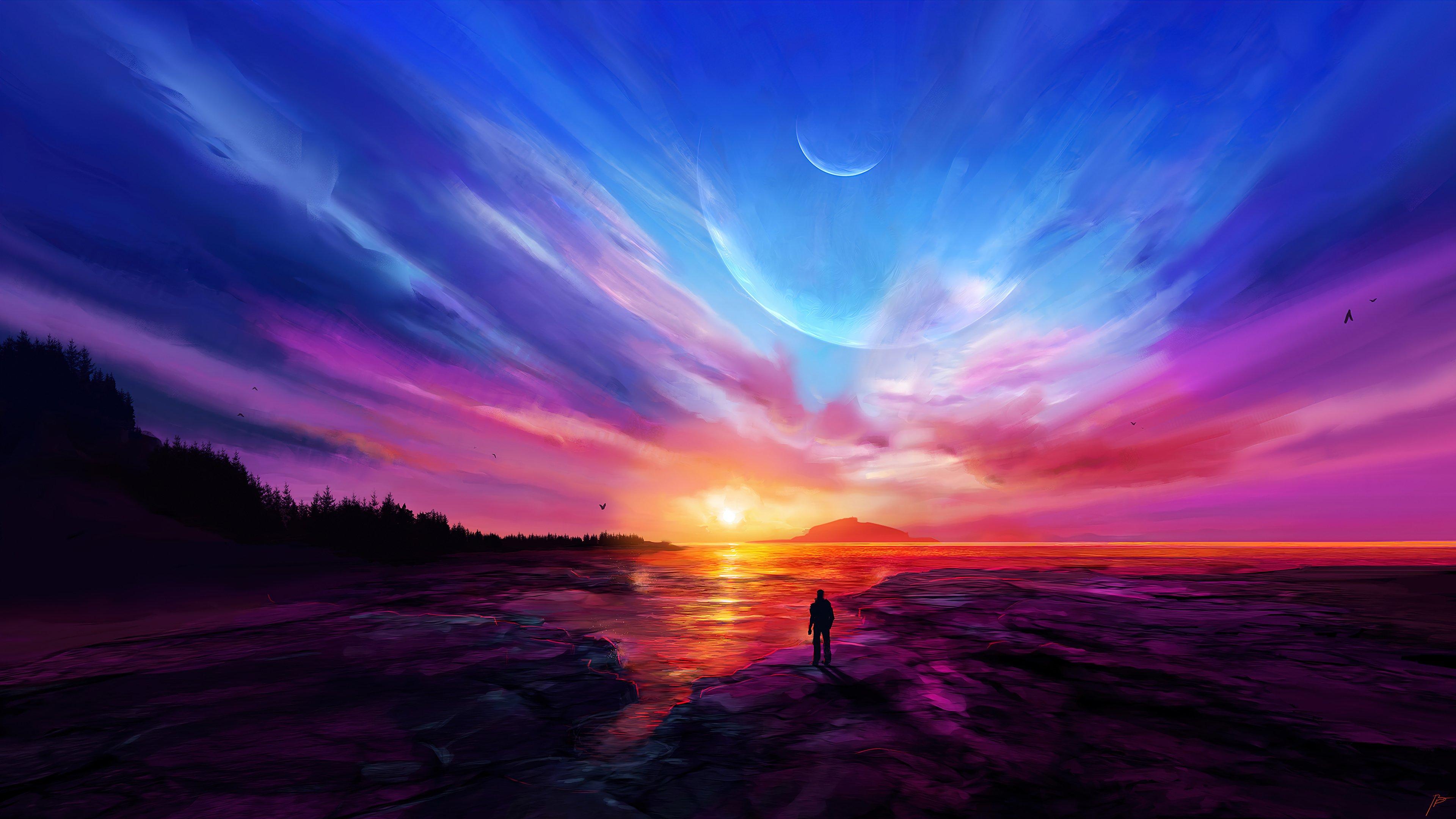 Wallpaper Impresive sunset