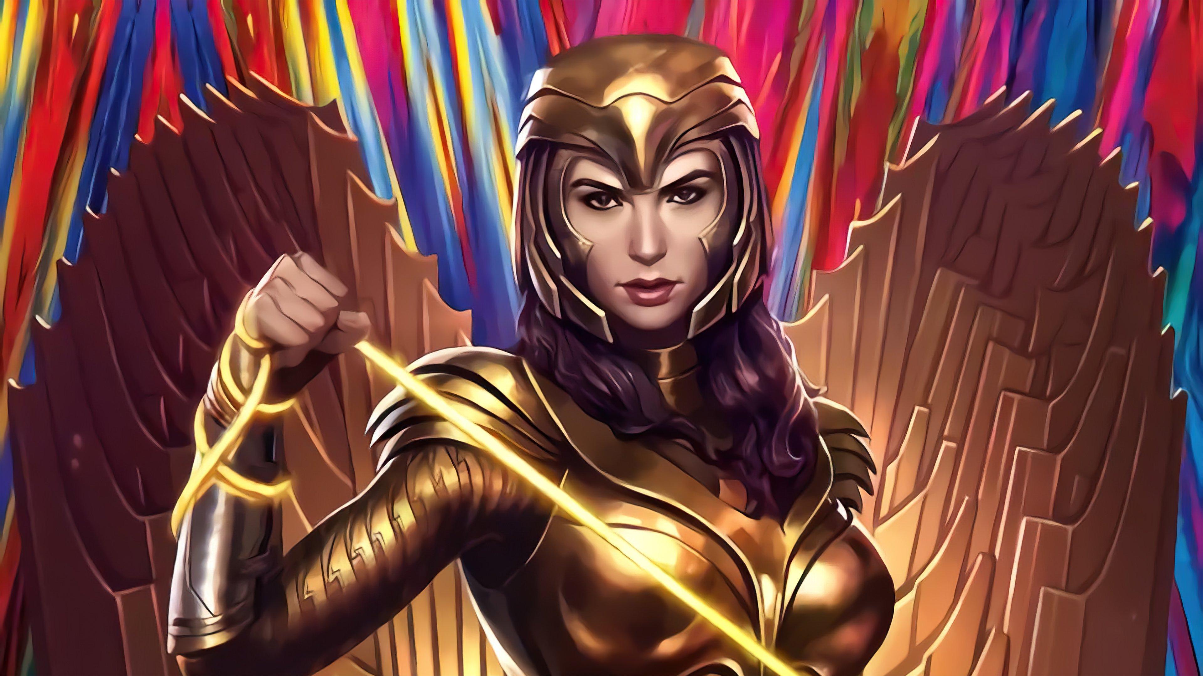 Wallpaper Injustice Wonder Woman Gold suit