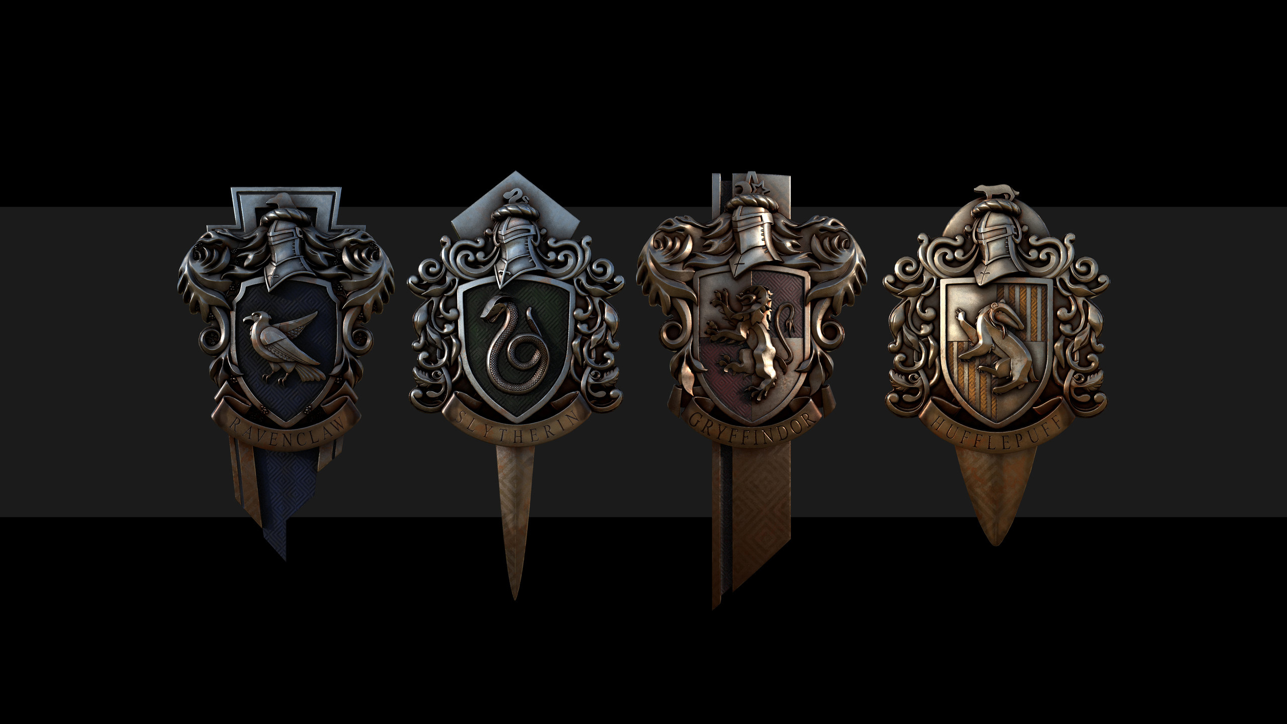 Wallpaper Harry Potter Badges