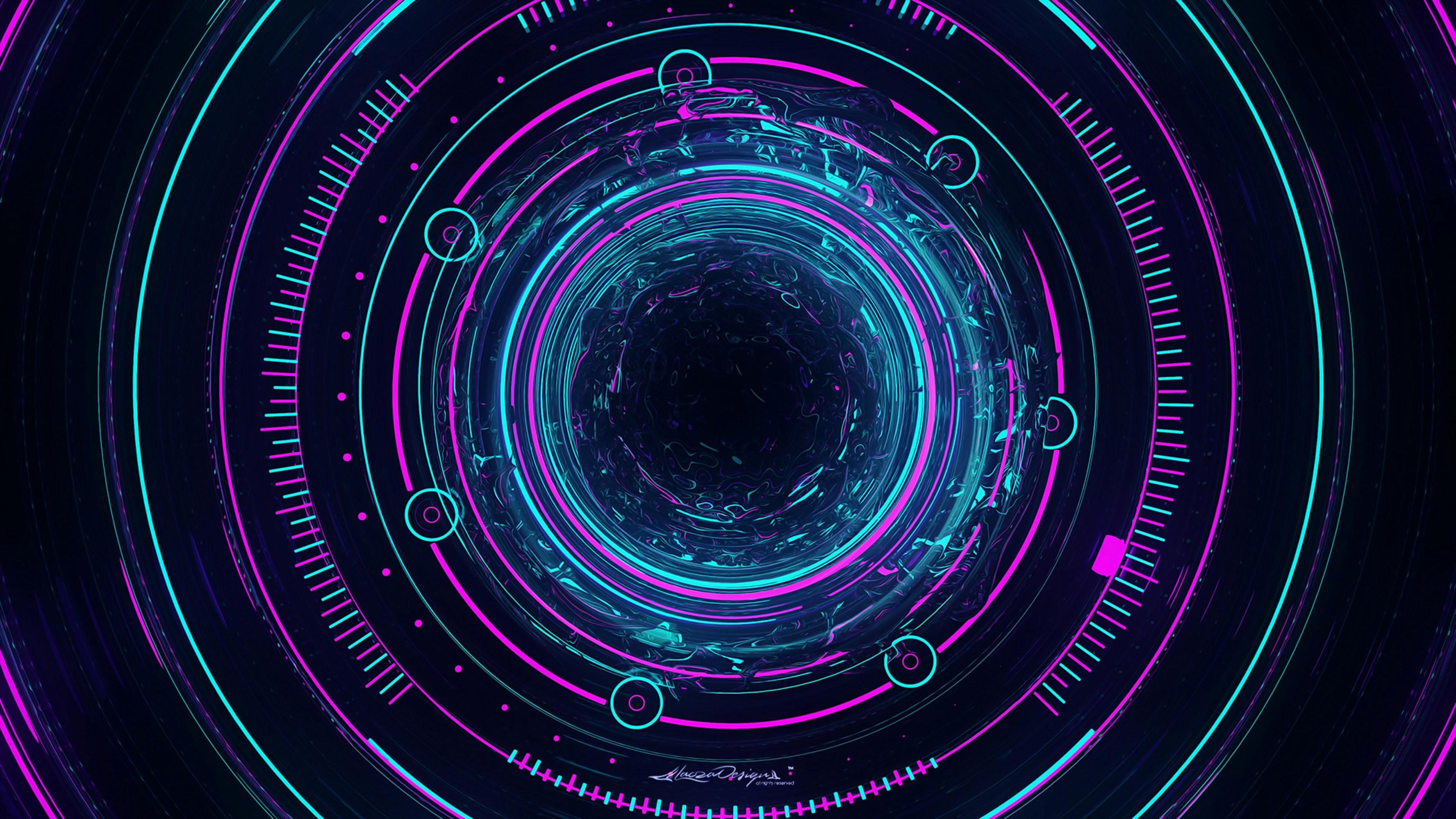 interestelar neon artwork digital 3481
