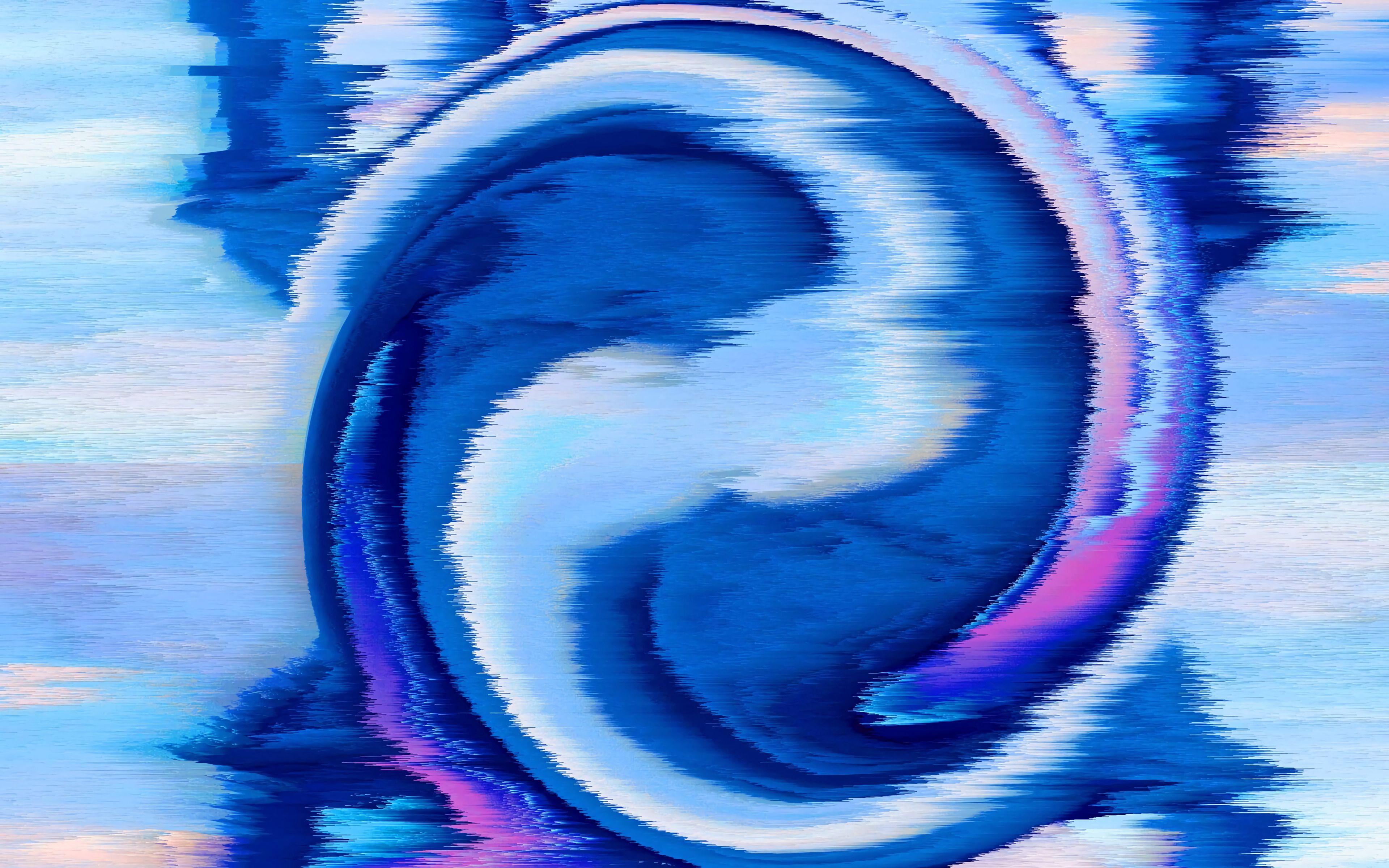 Fondos de pantalla Interferencia en espiral azul