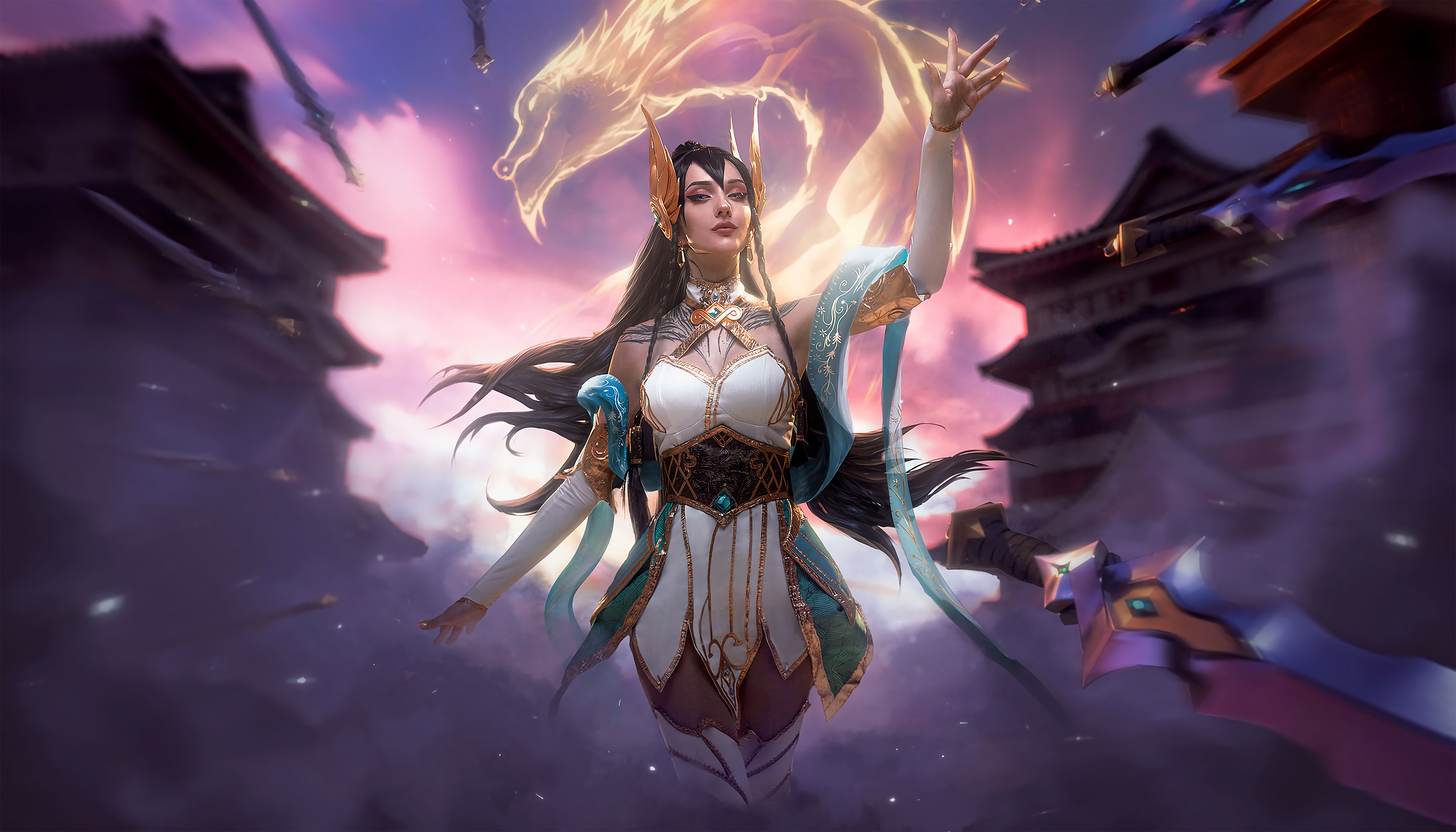 Fondos de pantalla Irelia League of Legends Arte Digital