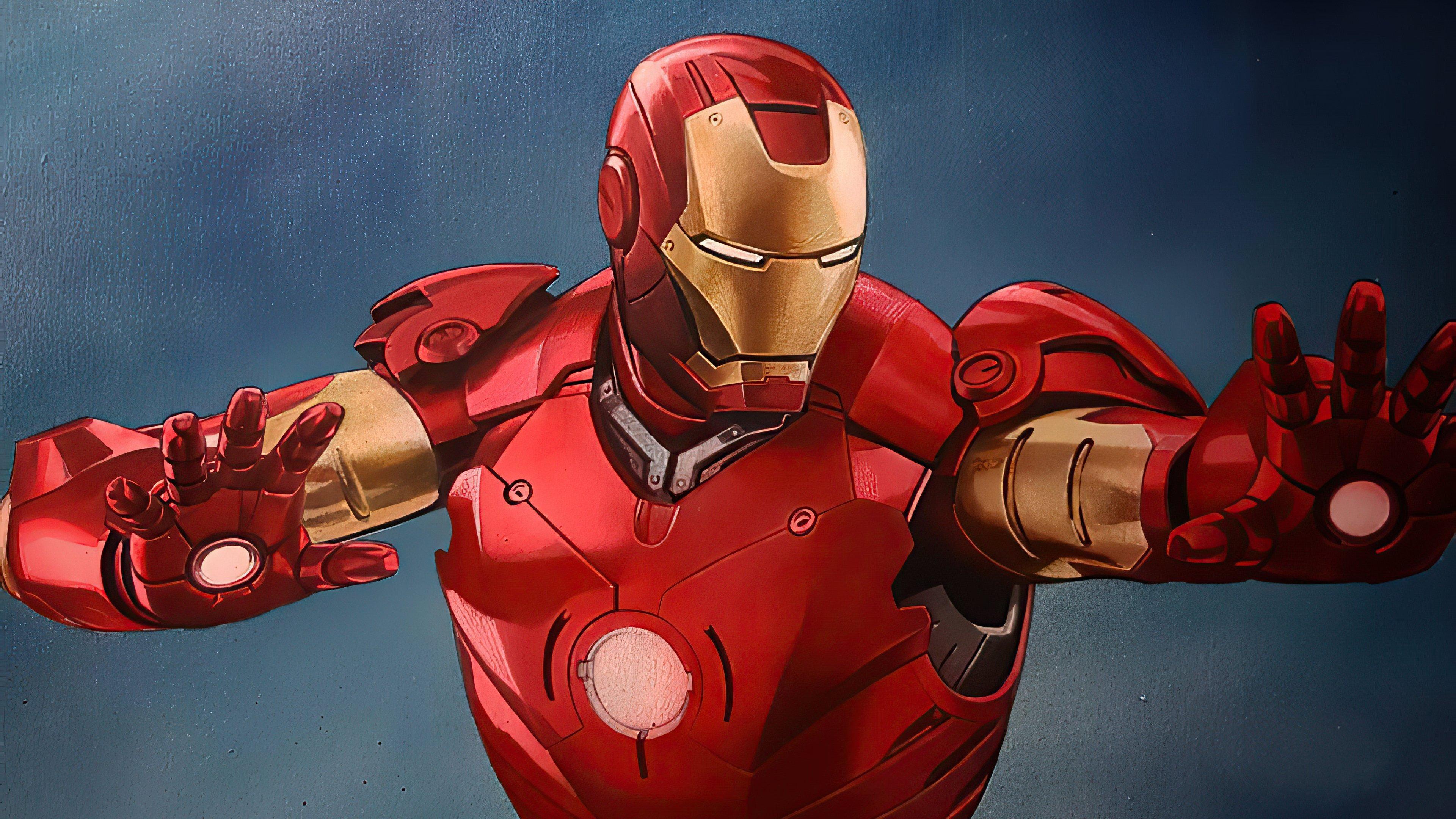 Wallpaper Iron Man attacking