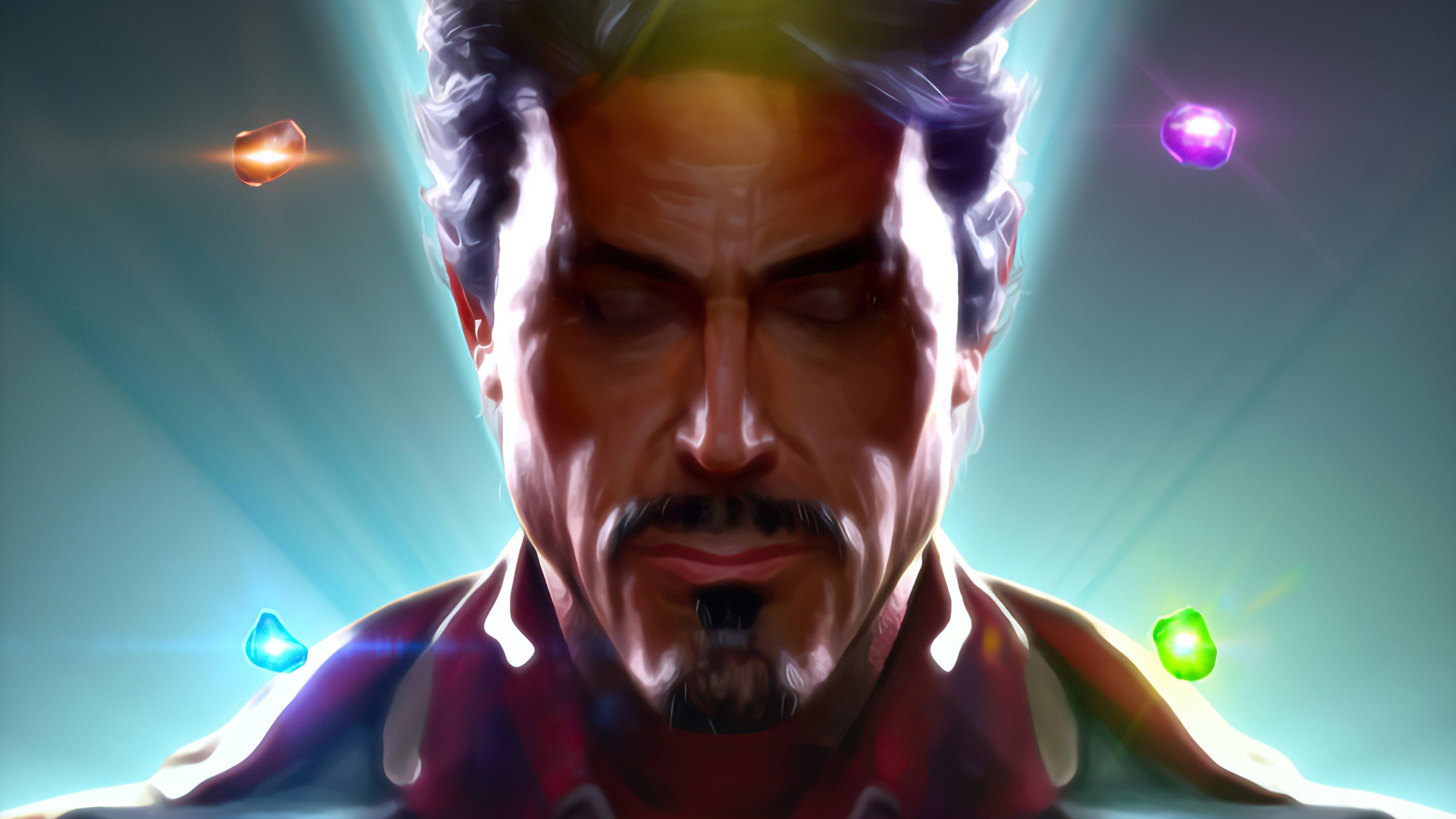 Wallpaper Irom man with Infinity gems