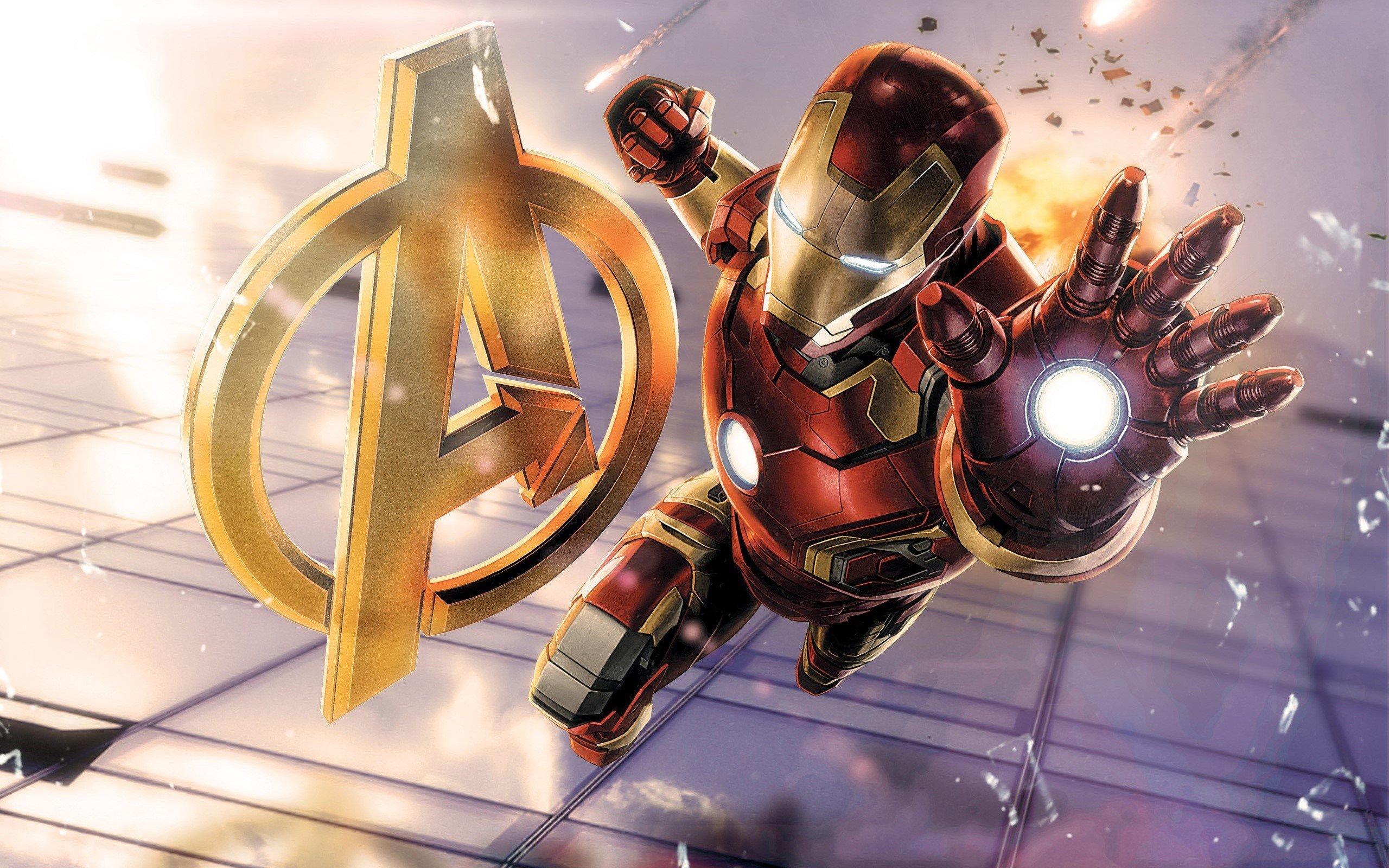 Wallpaper Iron Man in Avengers
