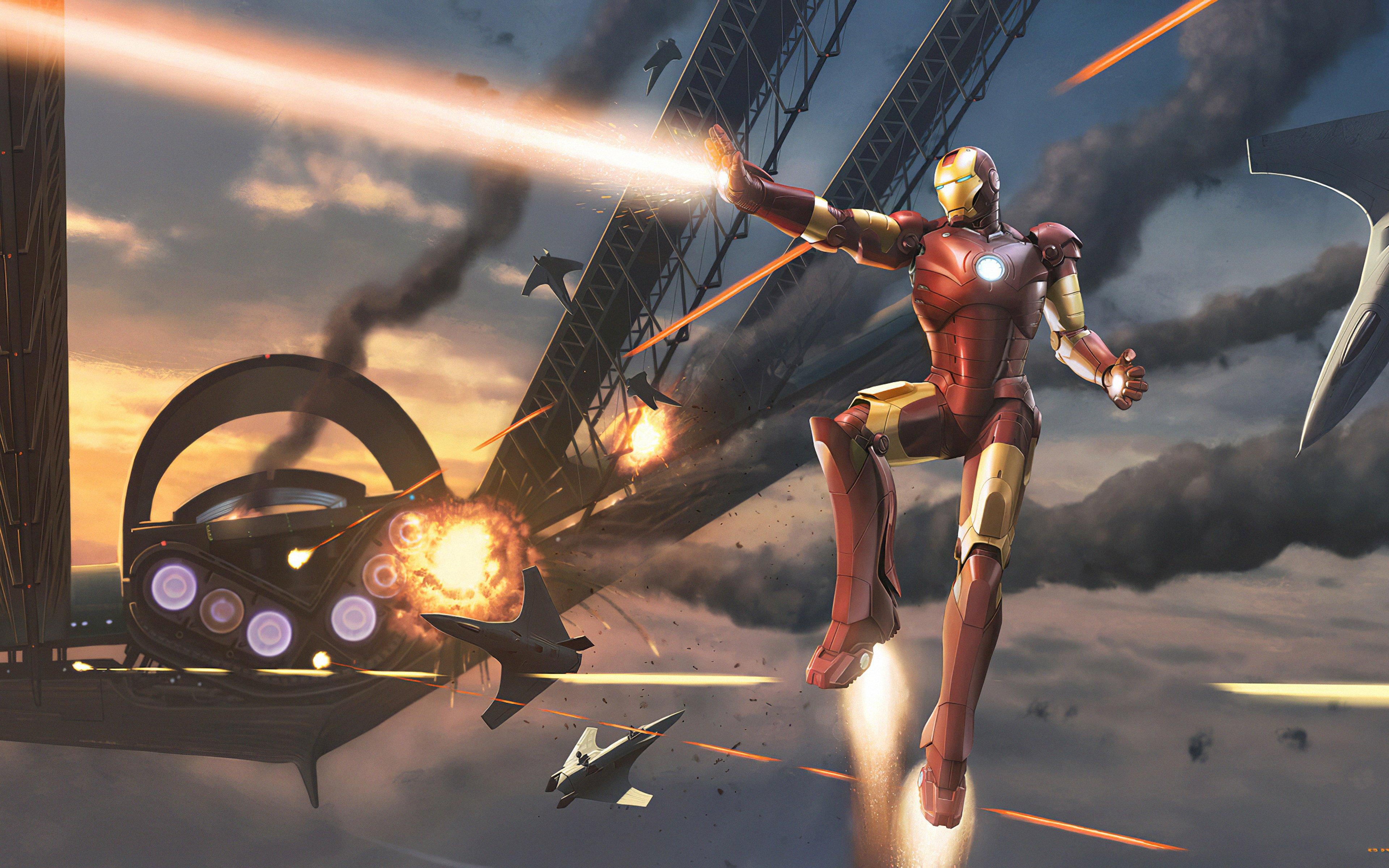 Fondos de pantalla Iron Man en batalla