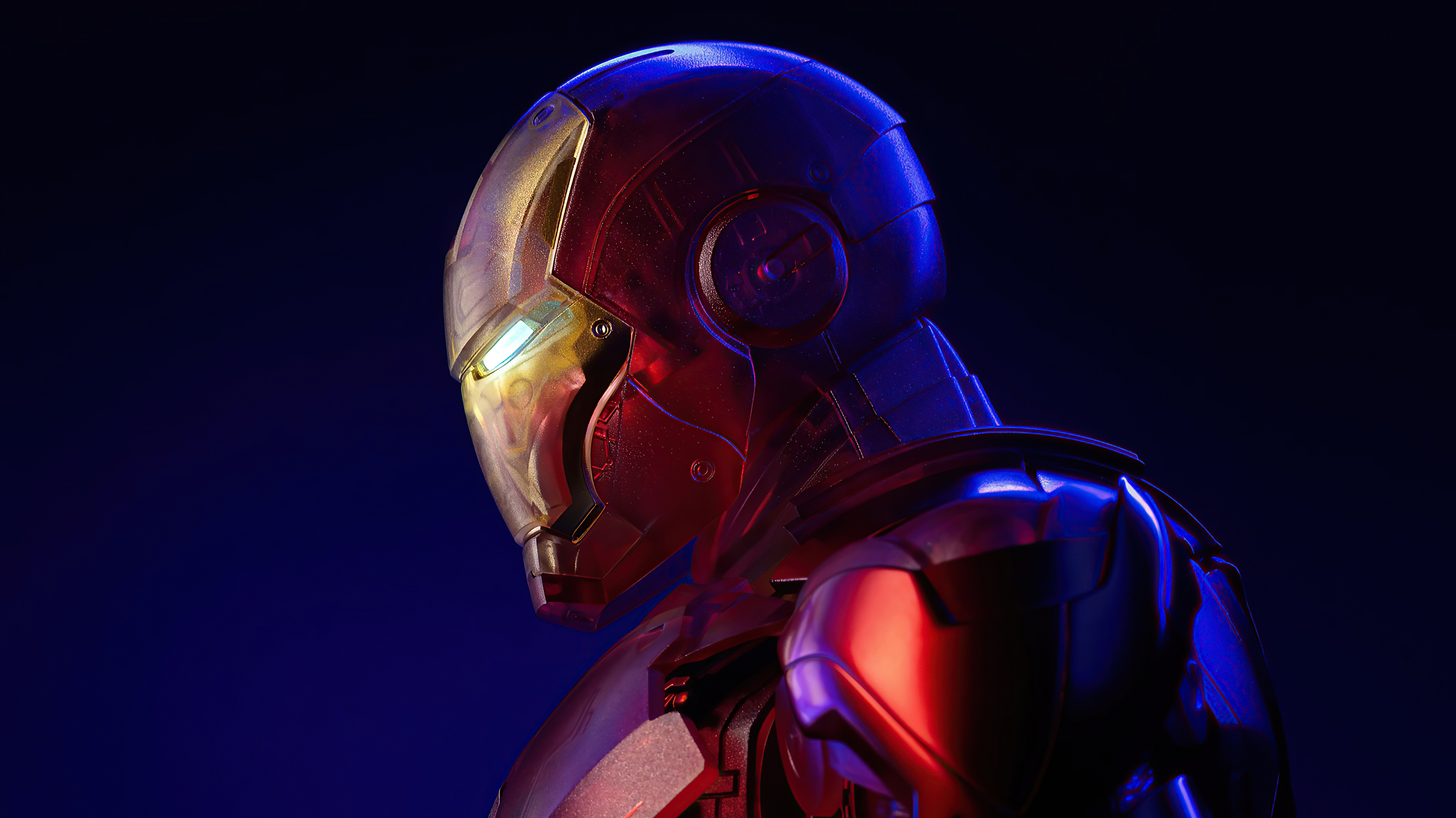 Wallpaper Holographic Iron Man