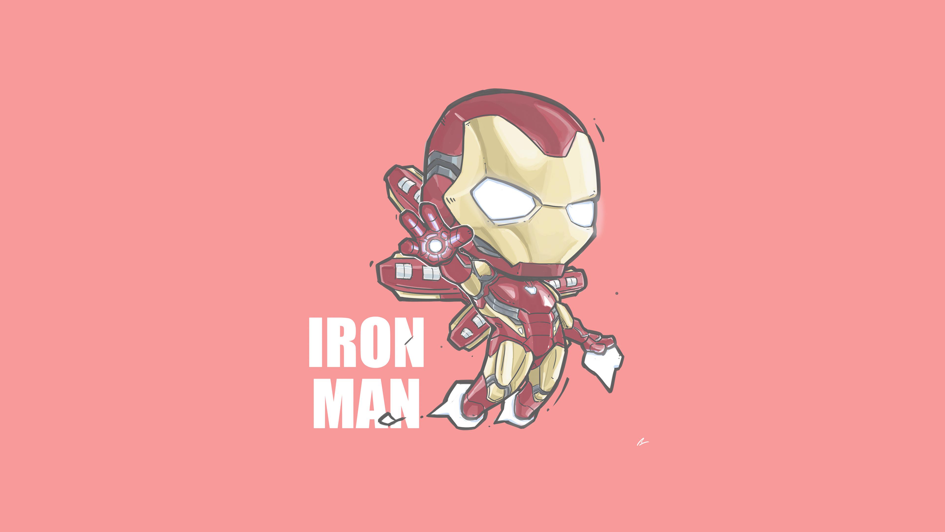 Wallpaper Iron Man Minimalist