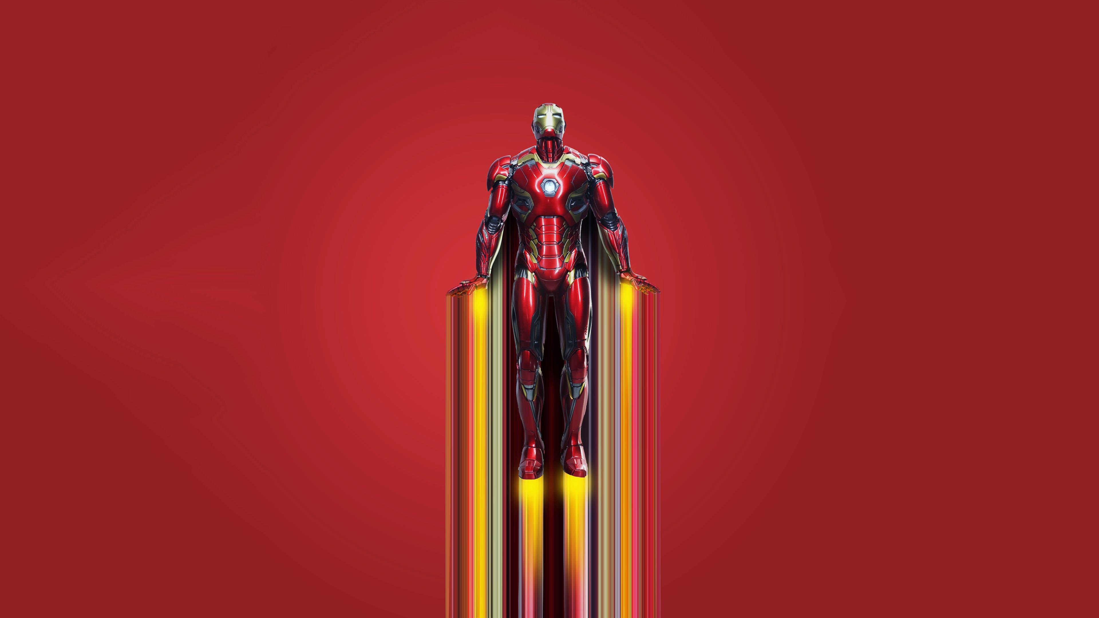 Fondos de pantalla Iron man volando 2020