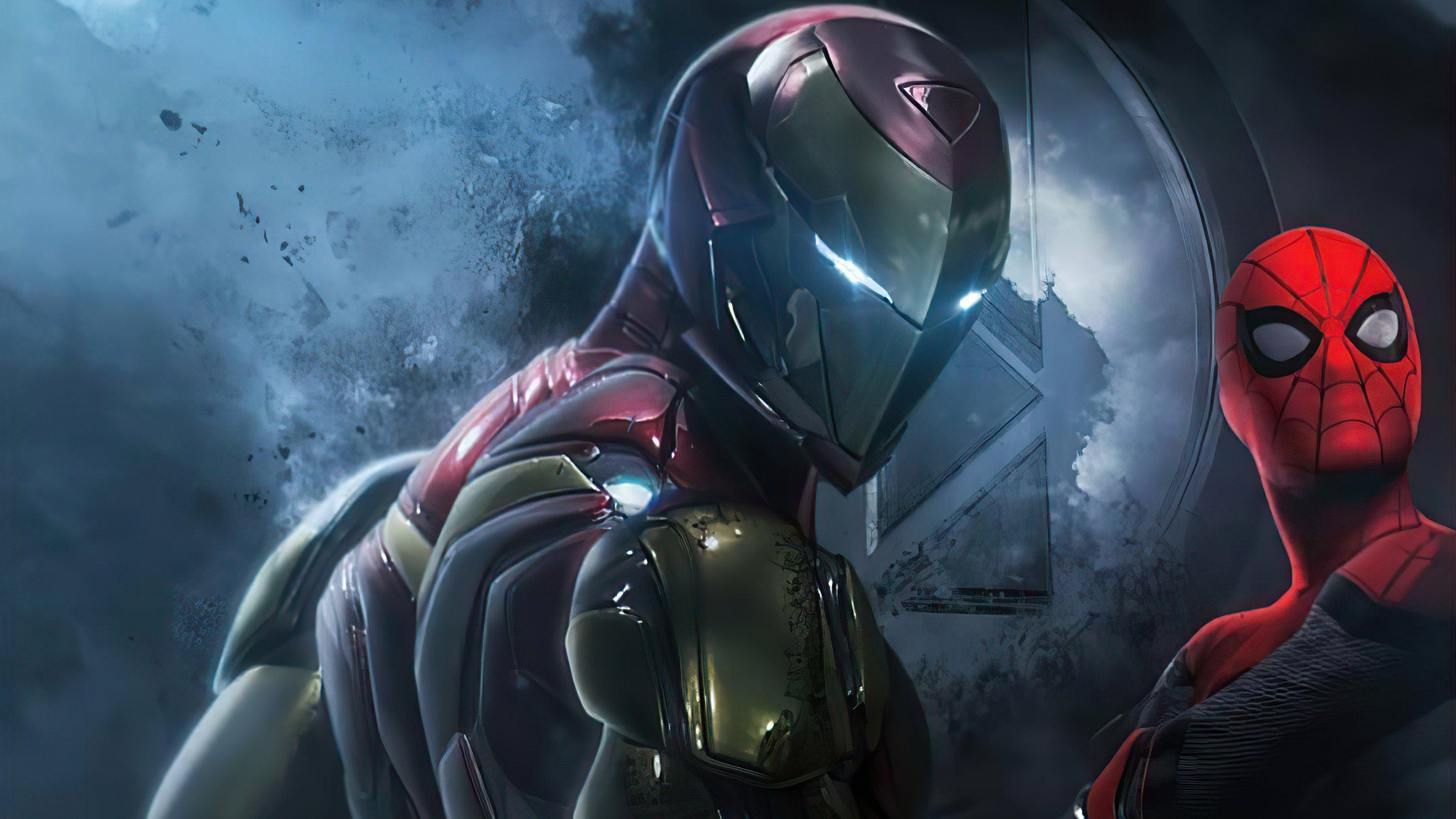 Fondos de pantalla Iron man y Spiderman