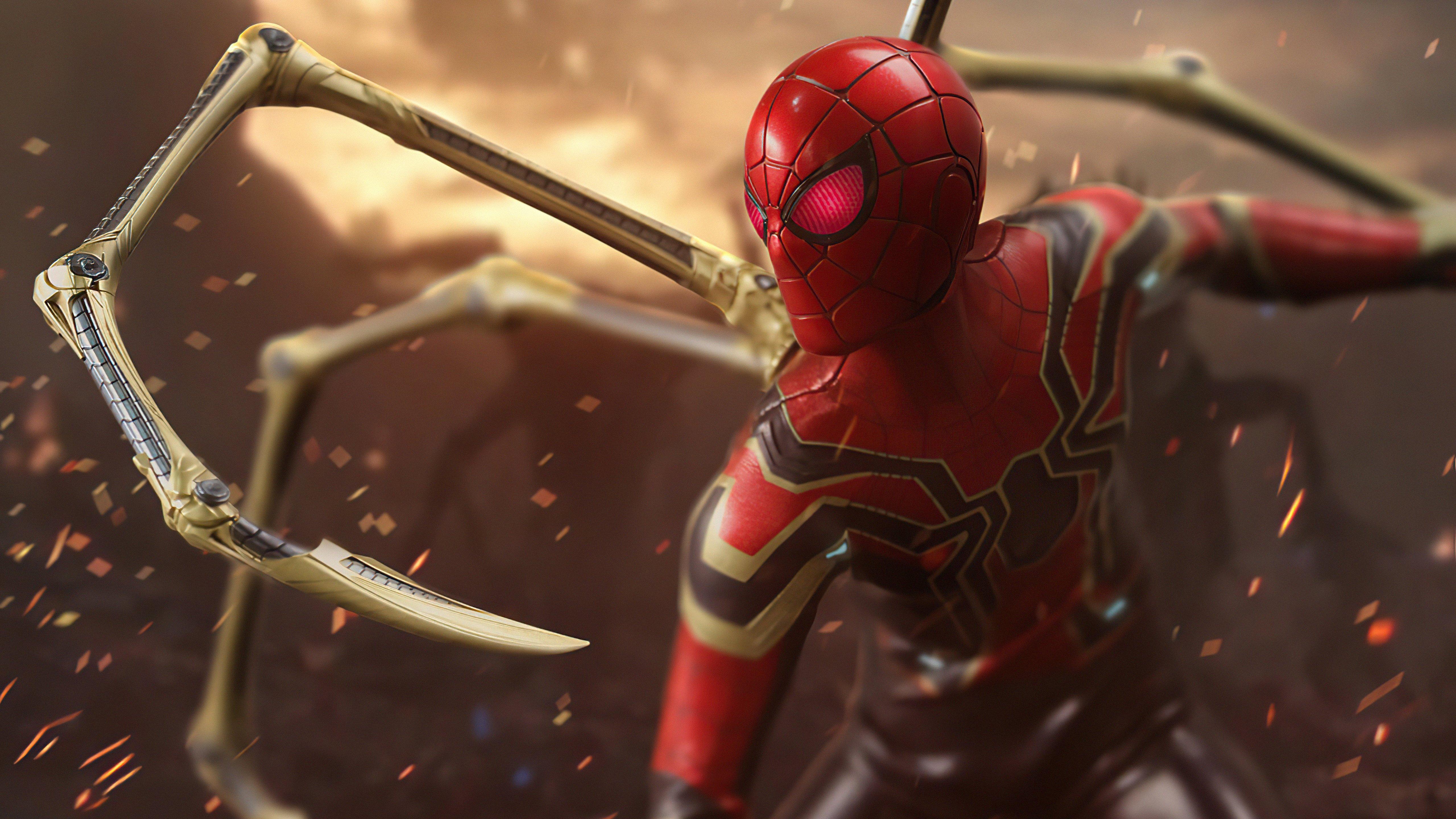 Fondos de pantalla Iron Spider ojos rojos