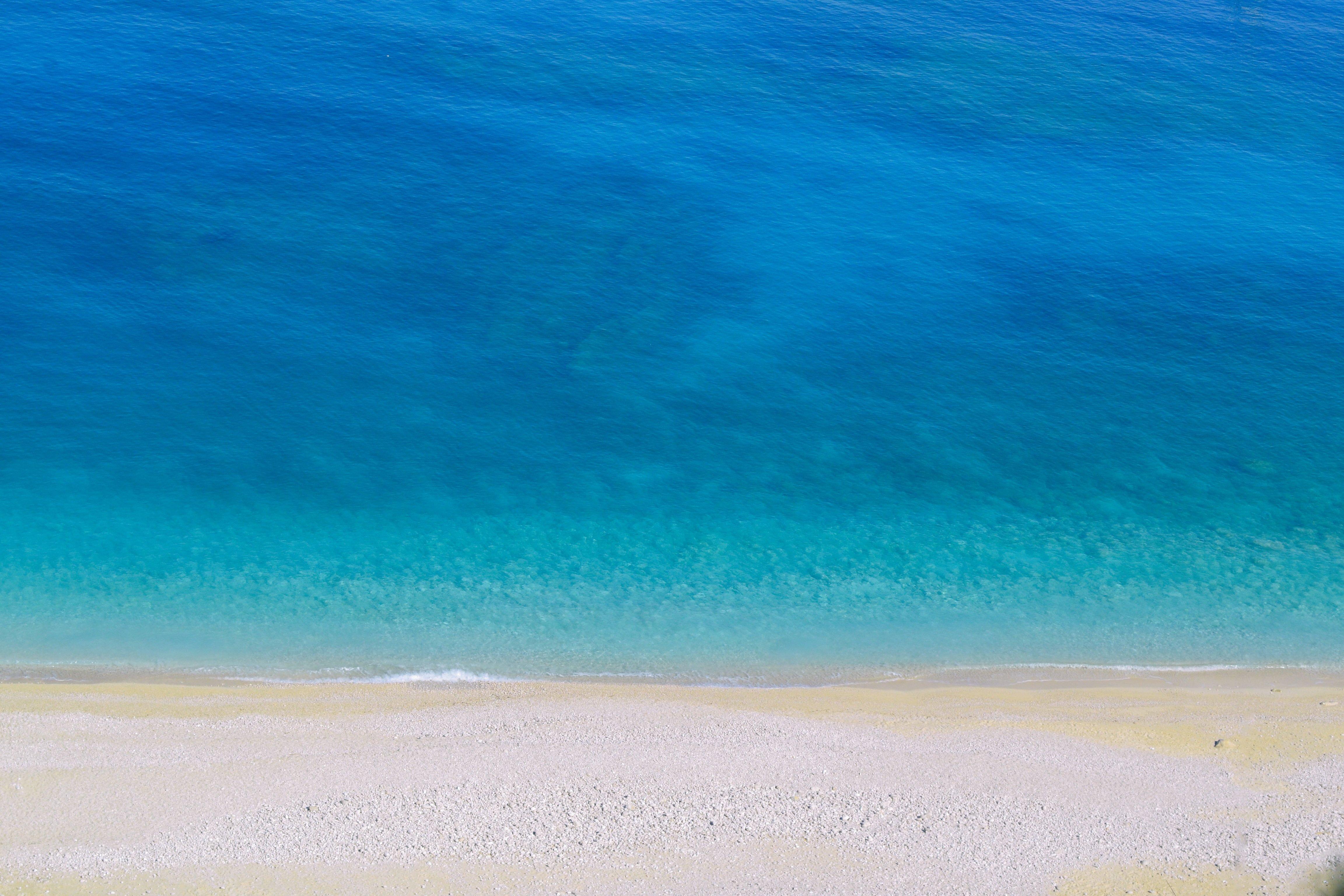 Fondos de pantalla Isla turquesa playa Vista aérea