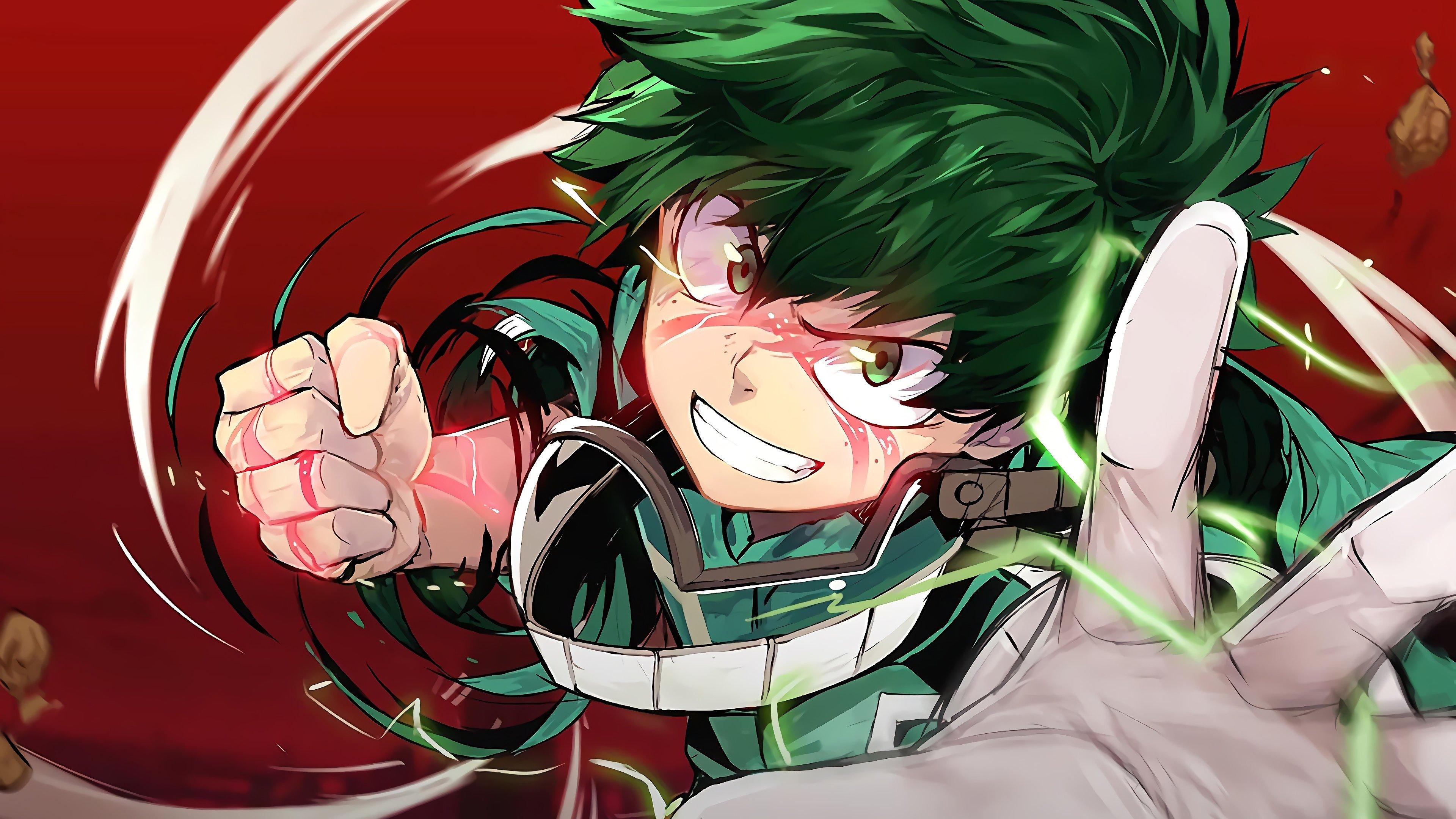 Izuku Midoriya My Hero Academia Anime Wallpaper 4k Ultra Hd