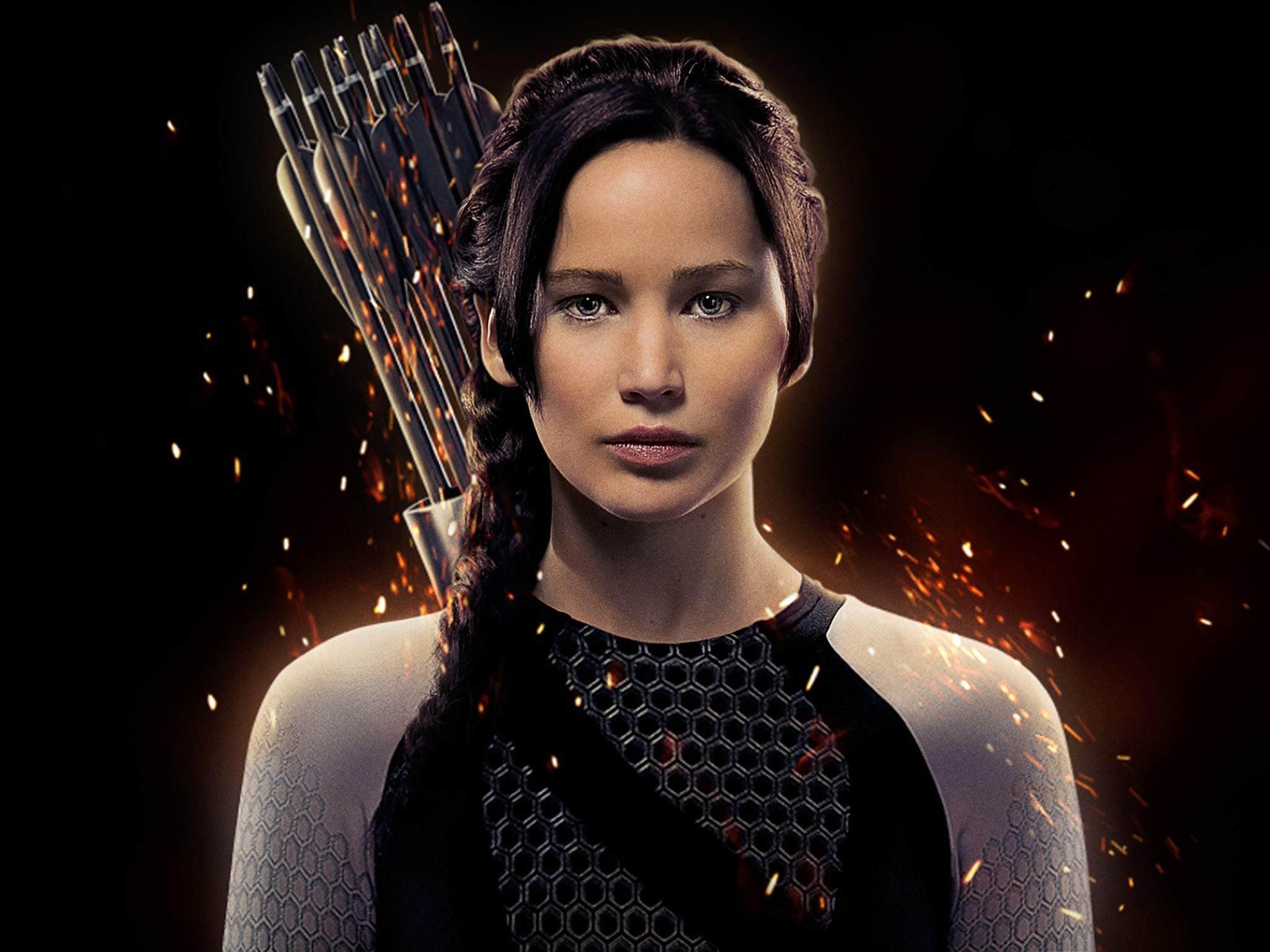 Wallpaper Jennifer Lawrence as Katniss