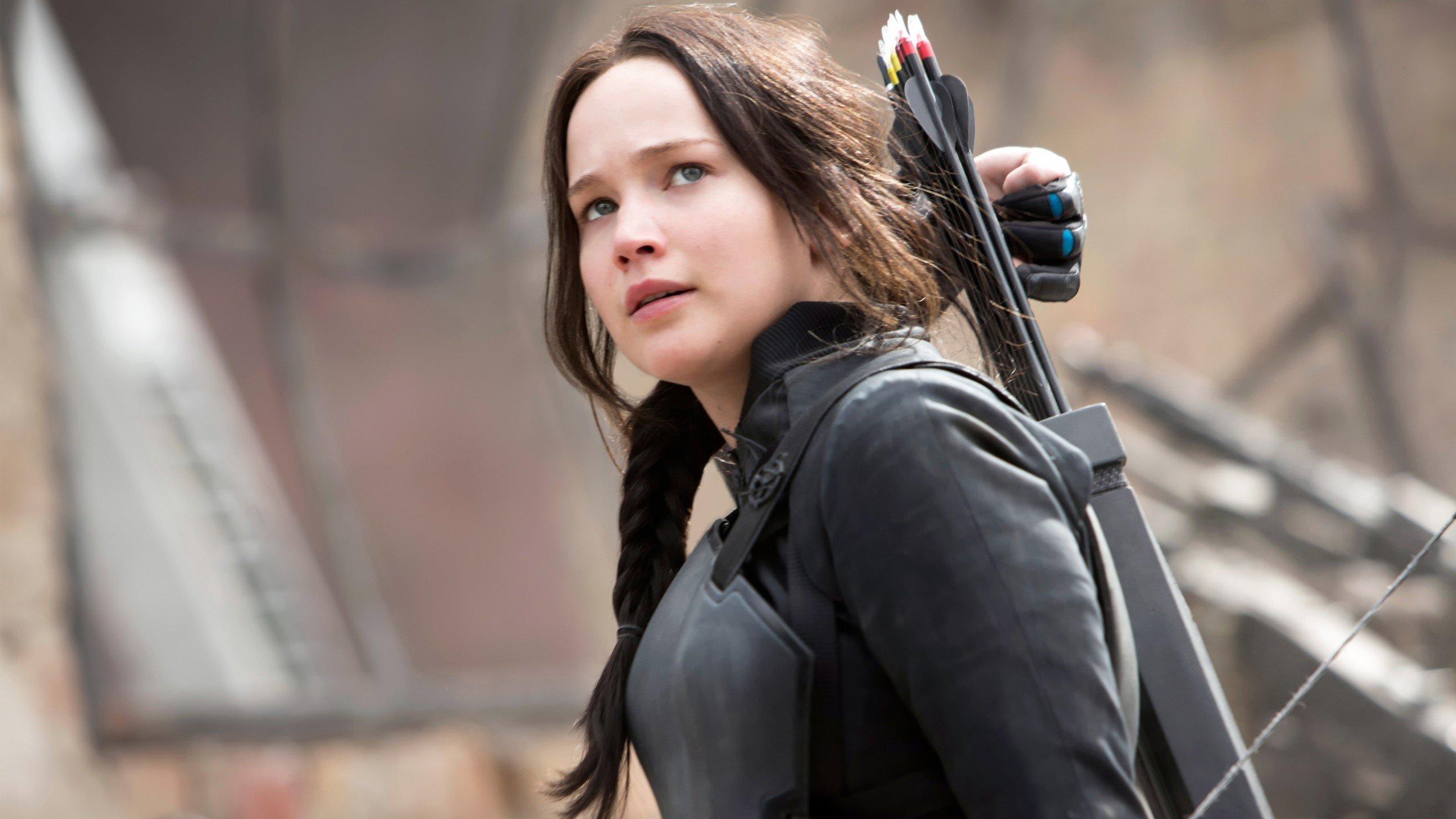Wallpaper Jennifer Lawrence as Katniss Everdeen