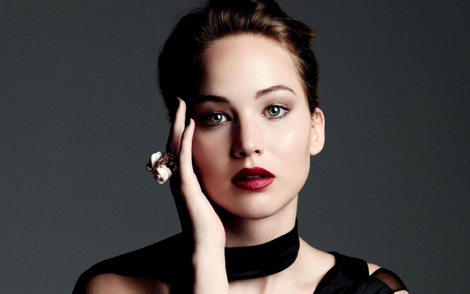 Fondo de pantalla de Jennifer Lawrence maquillada Imágenes
