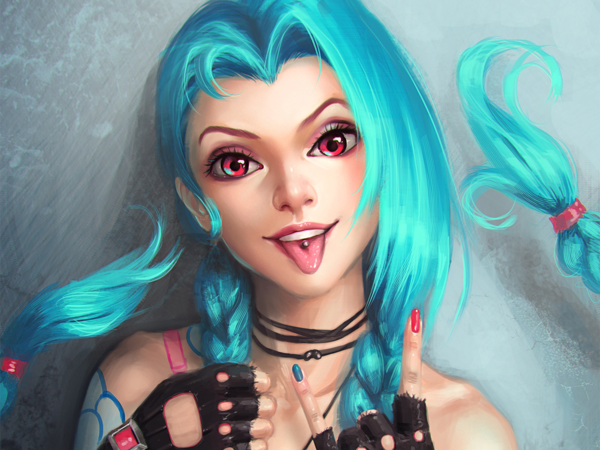 Fondos de pantalla Jinx de League of Legends