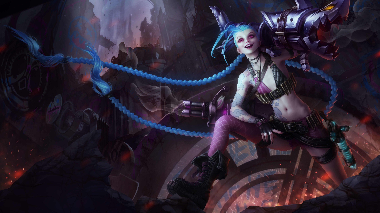 Wallpaper Jinx the Loose Cannon League of Legends