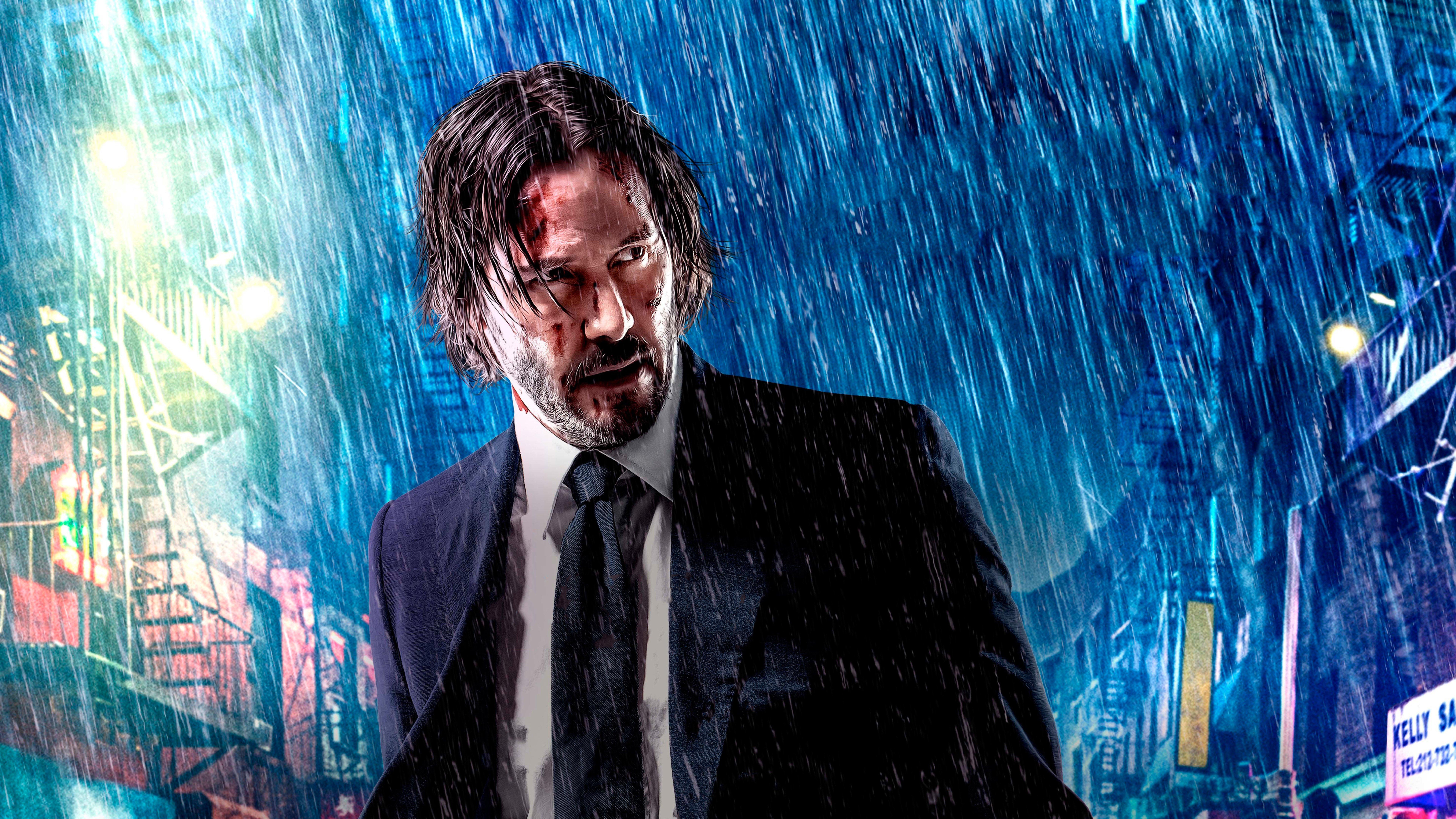 Wallpaper John Wick 3 Parebellum Keanu Reeves