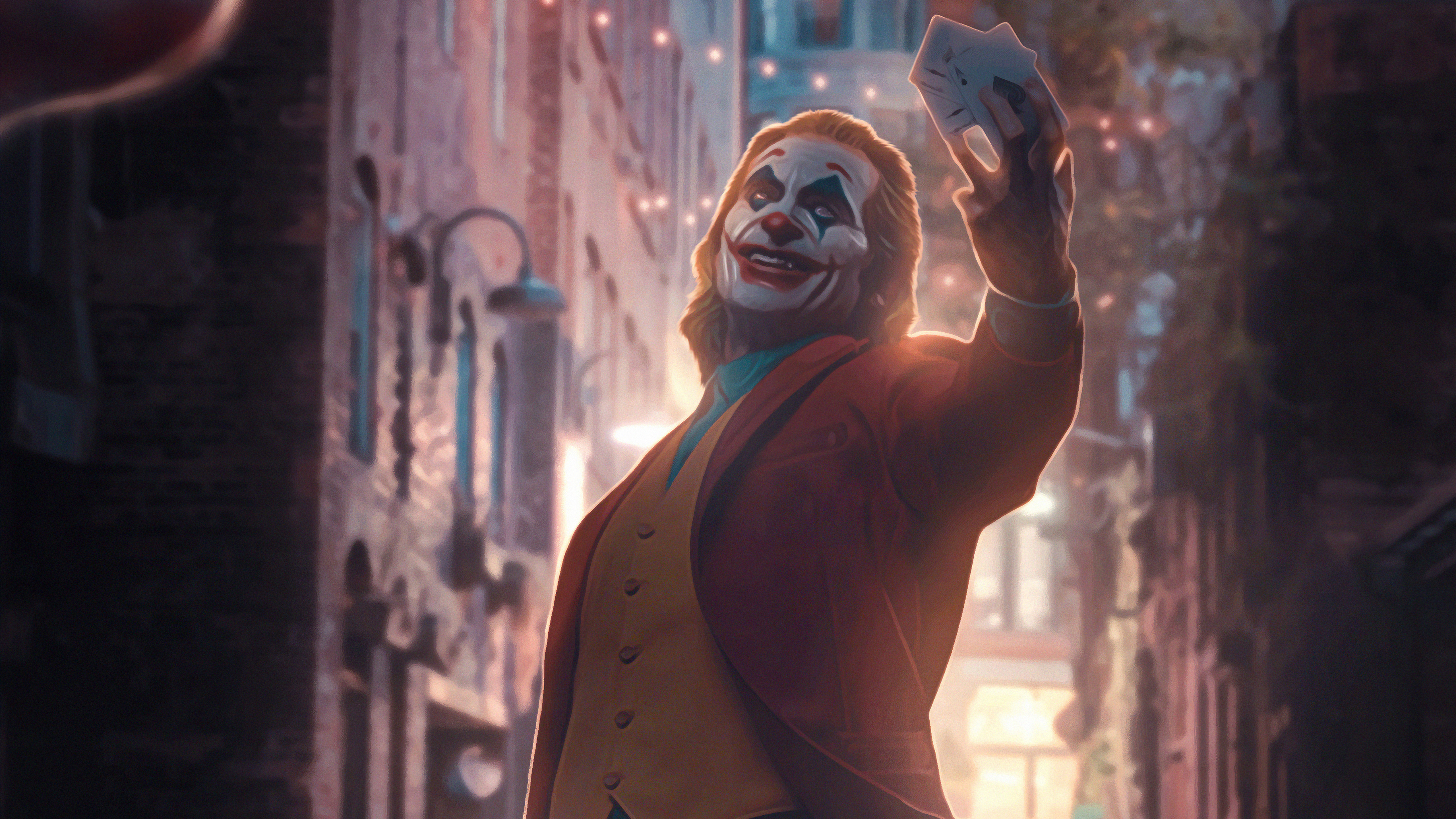 Wallpaper Joker with cards