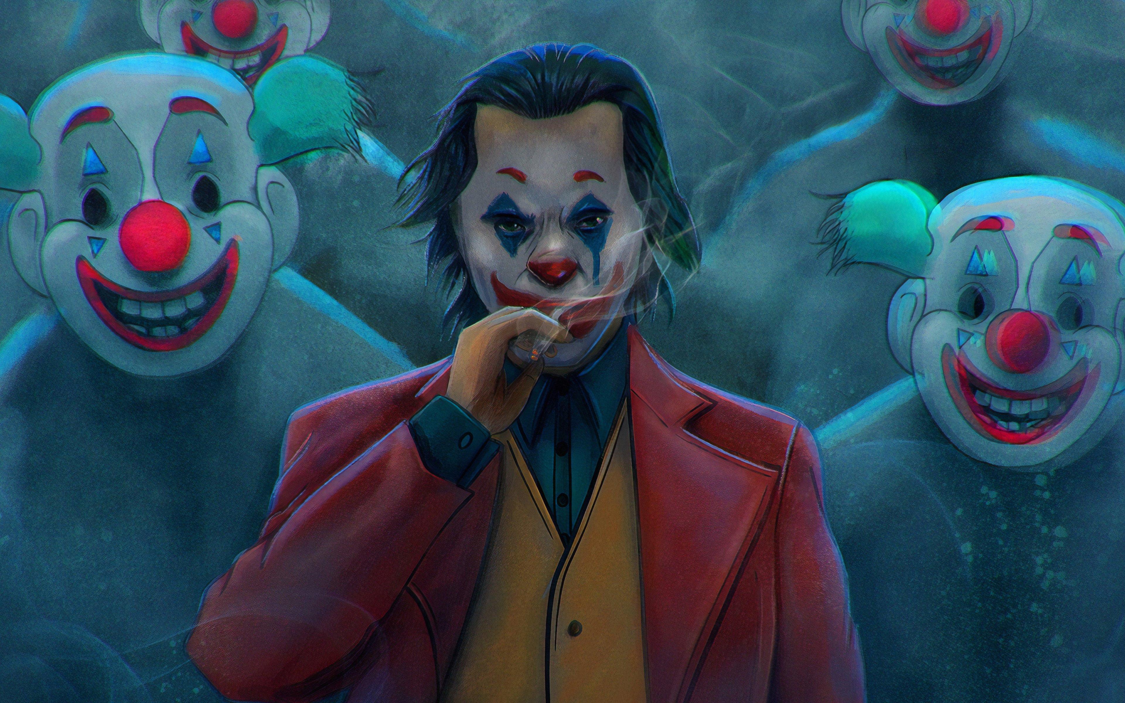 Fondos de pantalla Joker con cigarro Fanart