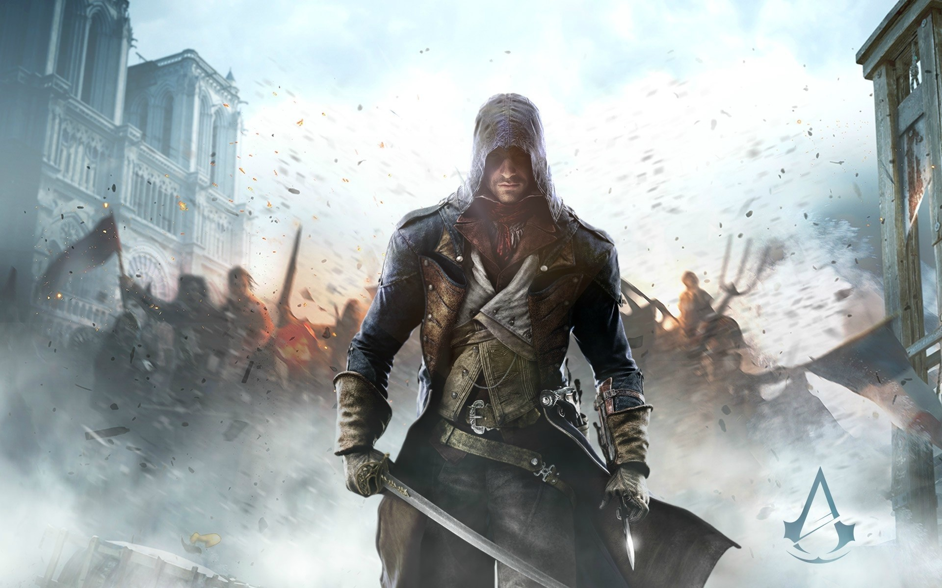 Wallpaper Assassins Creed Unity game