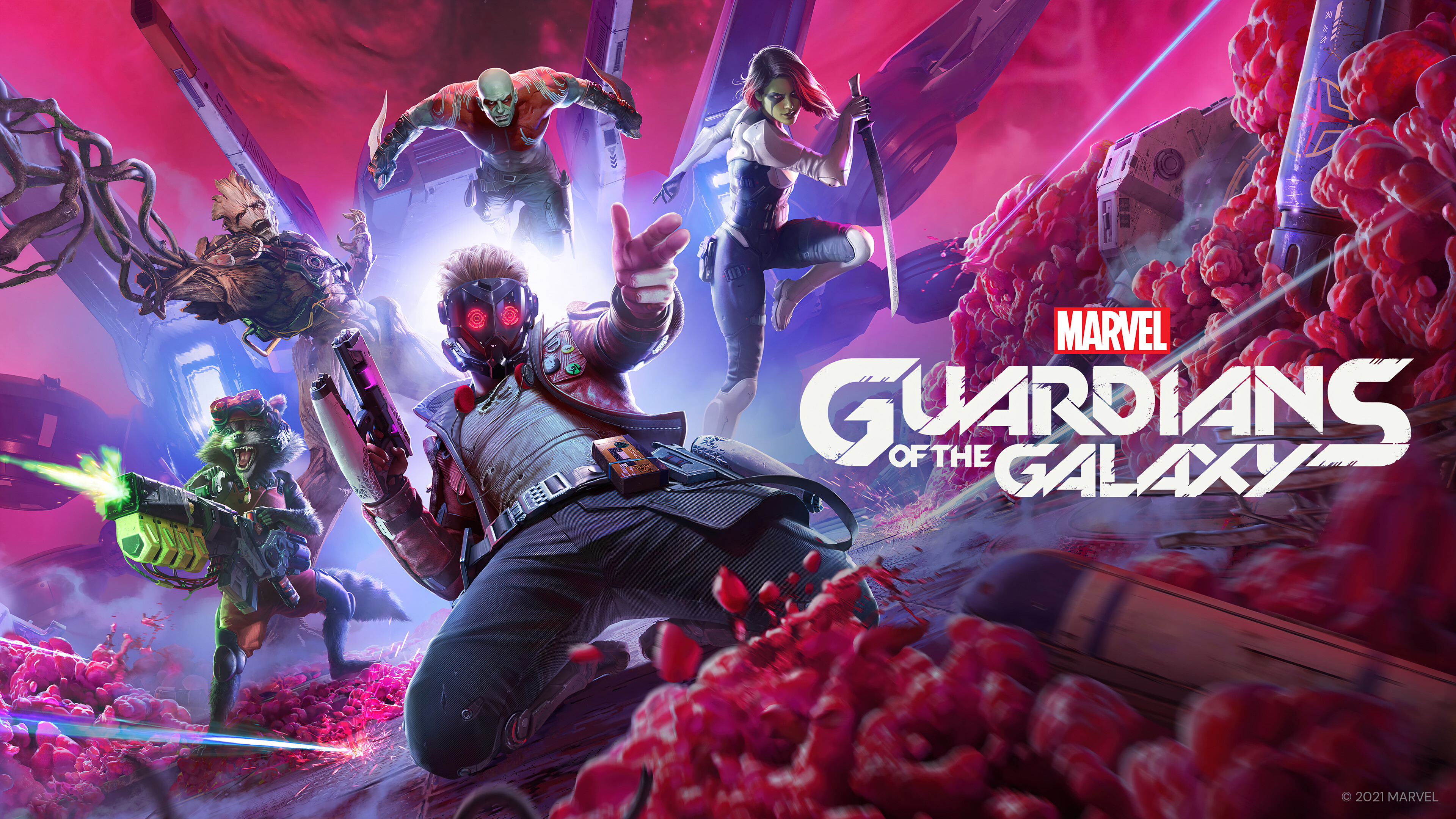 Wallpaper Guardians of the galaxy game