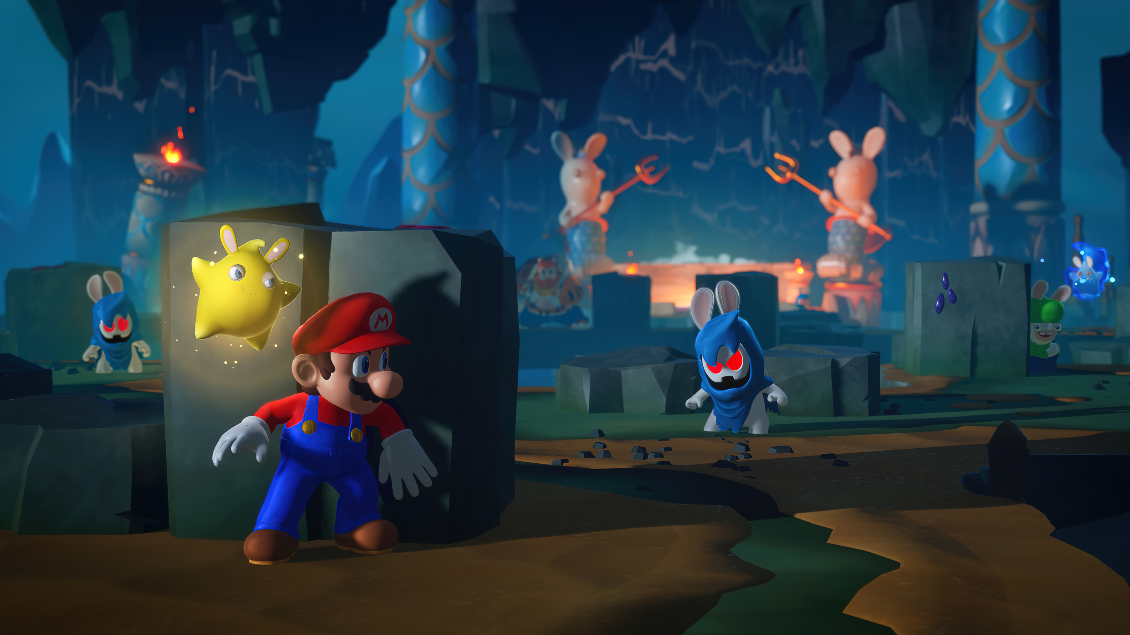 Wallpaper Mario Rabbids Sparks of Hope Game