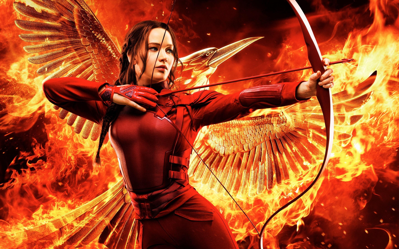 Wallpaper Katniss in part 2 of Mockingjay