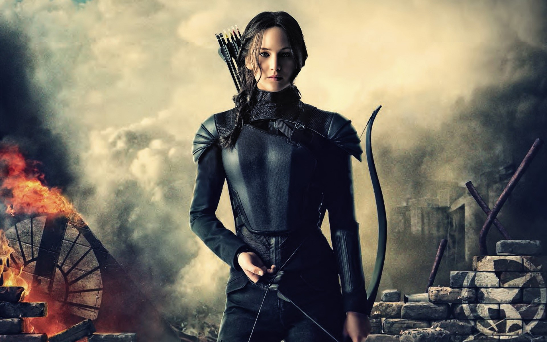 Wallpaper Katniss in Mockingjay