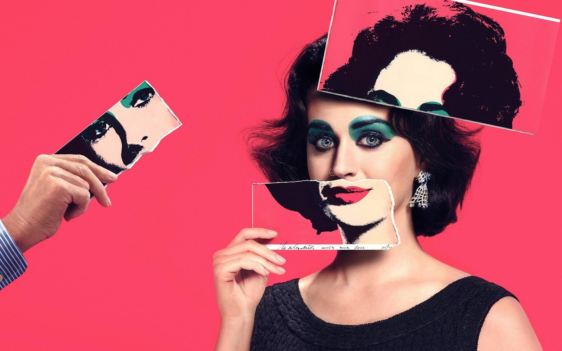 Wallpaper Katy Perry as Elizabeth Taylor
