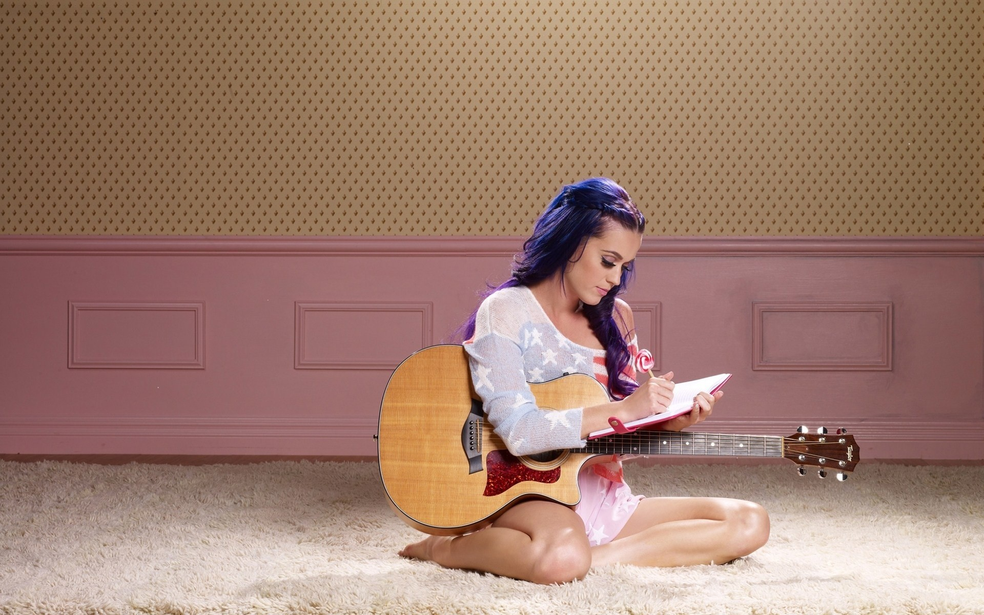 Wallpaper Katy Perry writing